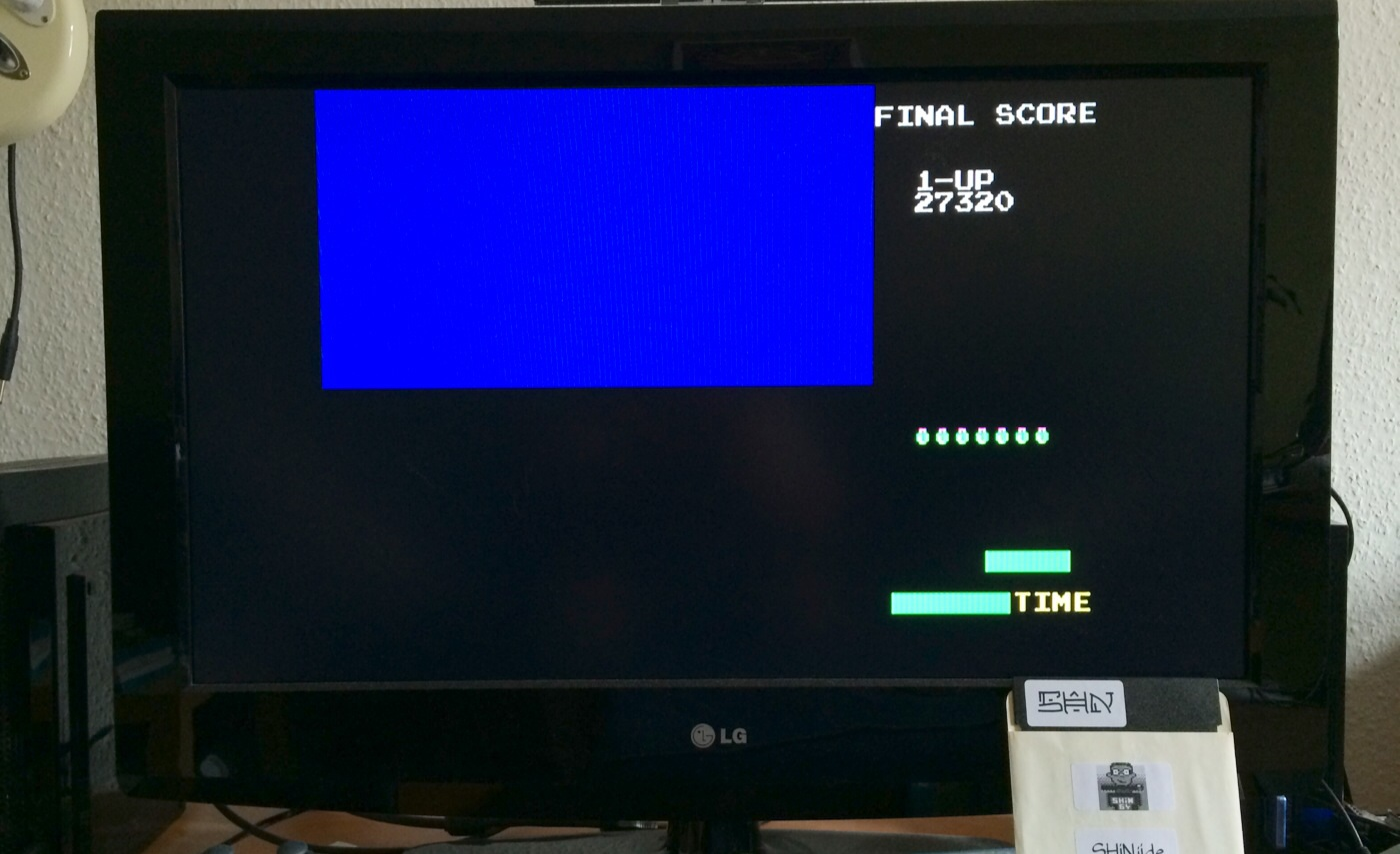 SHiNjide: Frogger (Sega Genesis / MegaDrive Emulated) 27,320 points on 2014-08-03 05:09:46