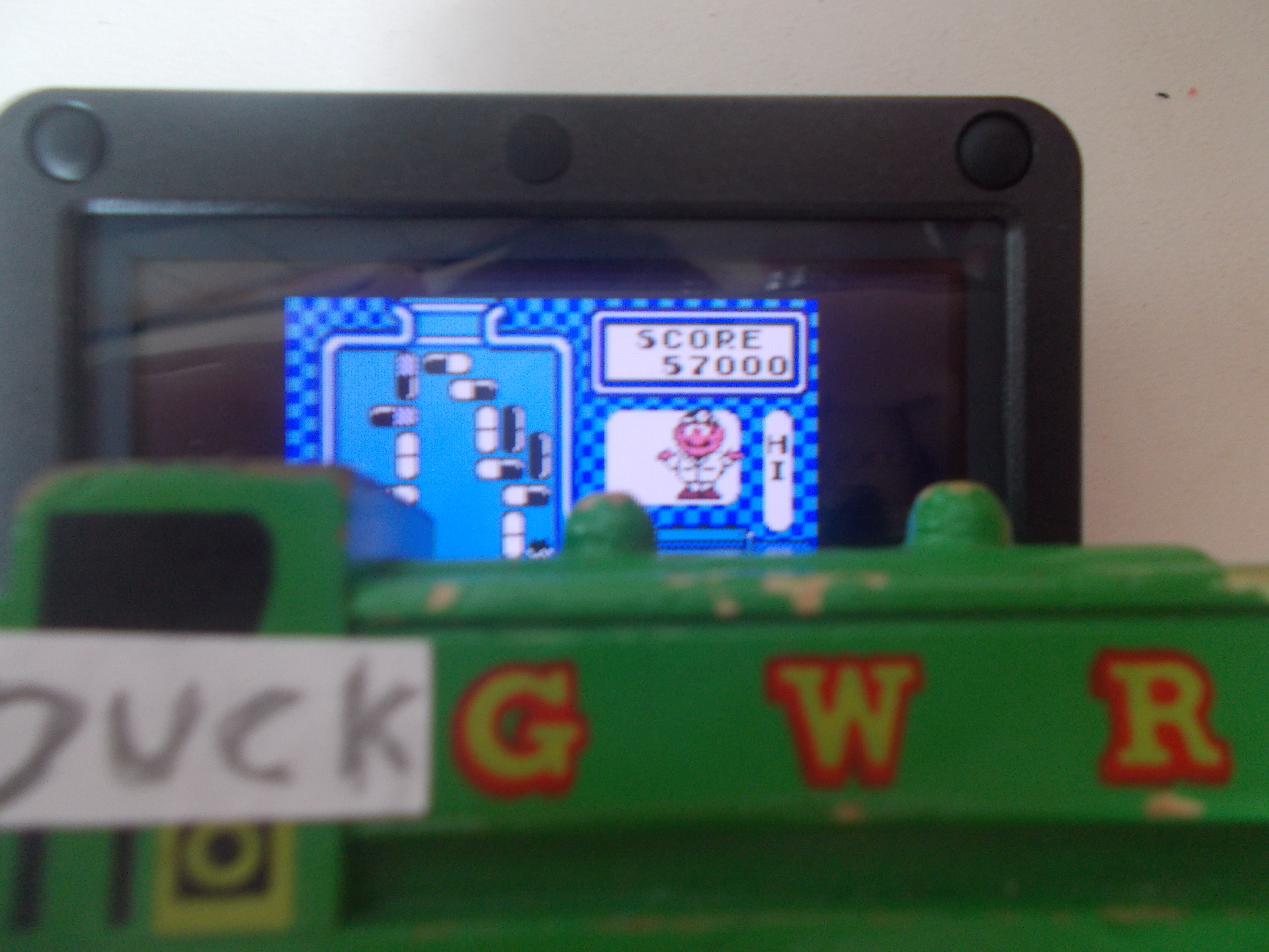 DuckGWR: Dr. Mario [High] (Game Boy) 57,000 points on 2014-08-03 17:38:05