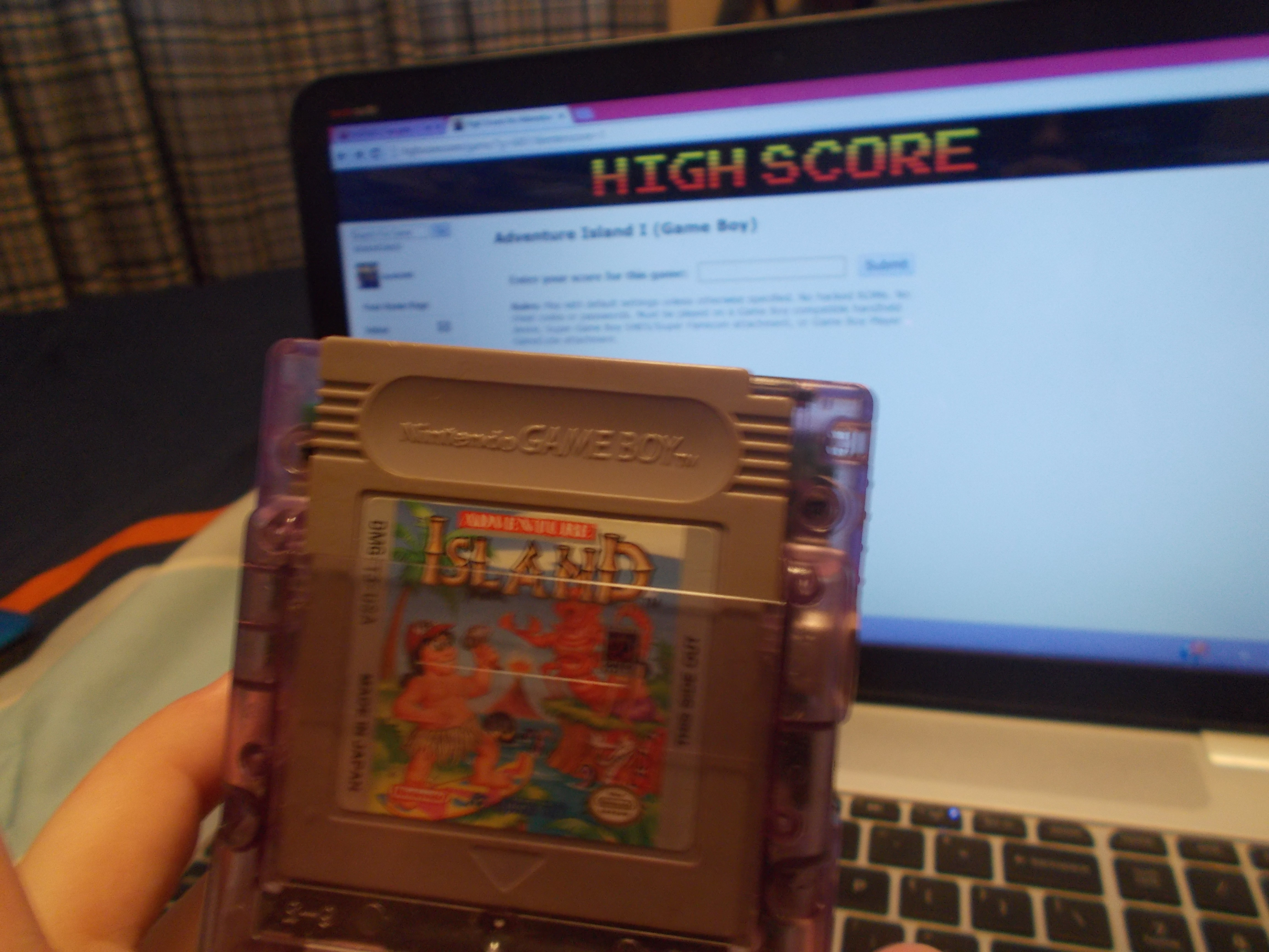 DuckGWR: Adventure Island I (Game Boy) 45,430 points on 2014-08-03 19:04:59