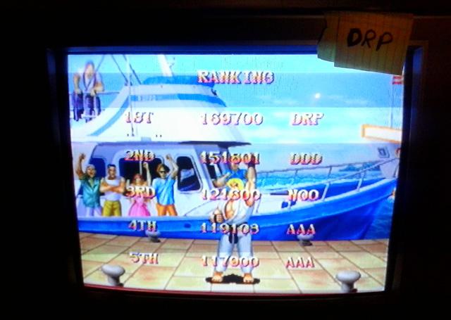 Street Fighter Anniversary Collection: Street Fighter II Hyper [Arcade Mode/Medium] 169,700 points