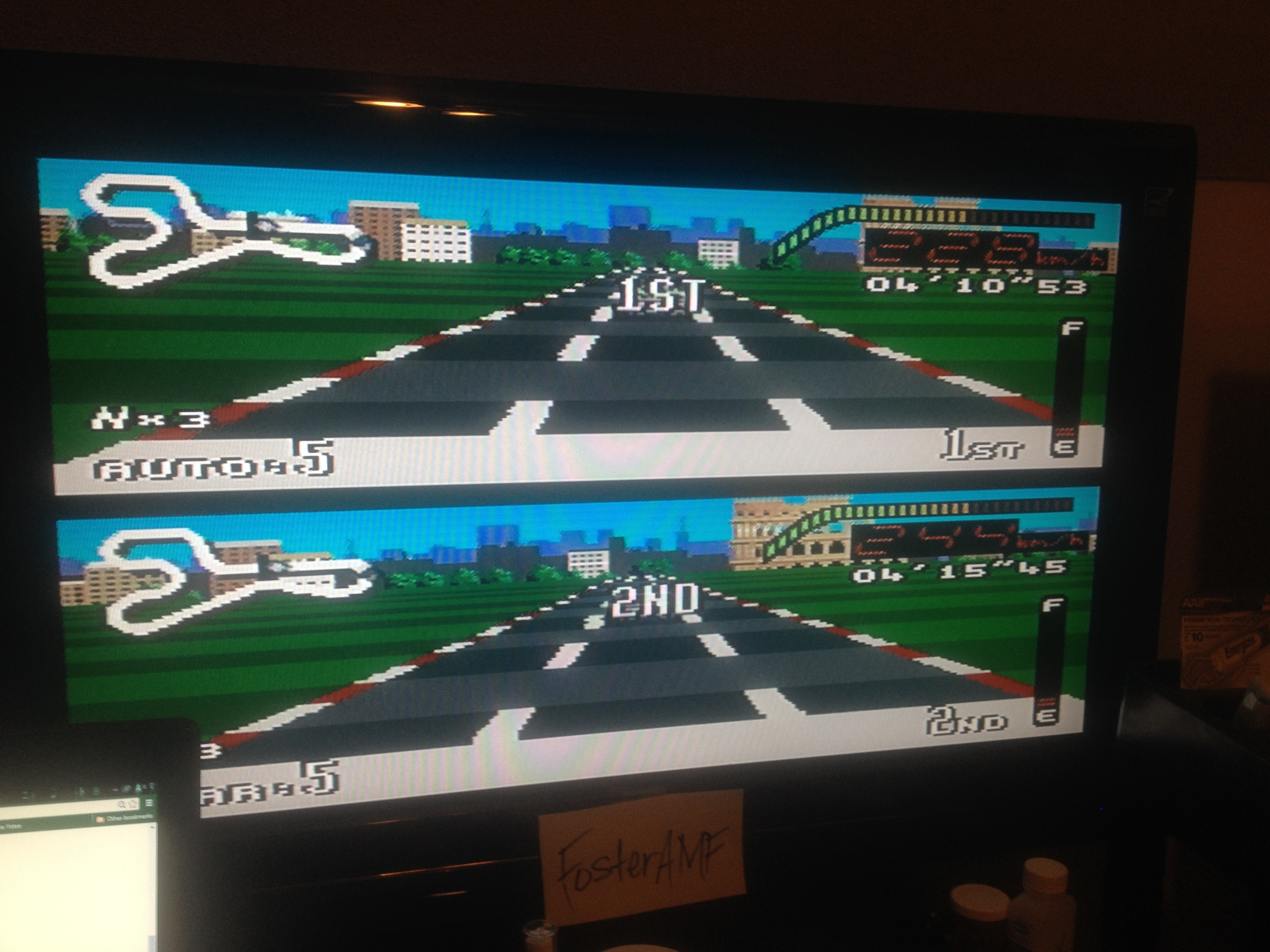 FosterAMF: Top Gear [Track 26: Rome/Amateur Difficulty/No Nitro] (SNES/Super Famicom) 0:04:10.53 points on 2014-08-04 21:31:29