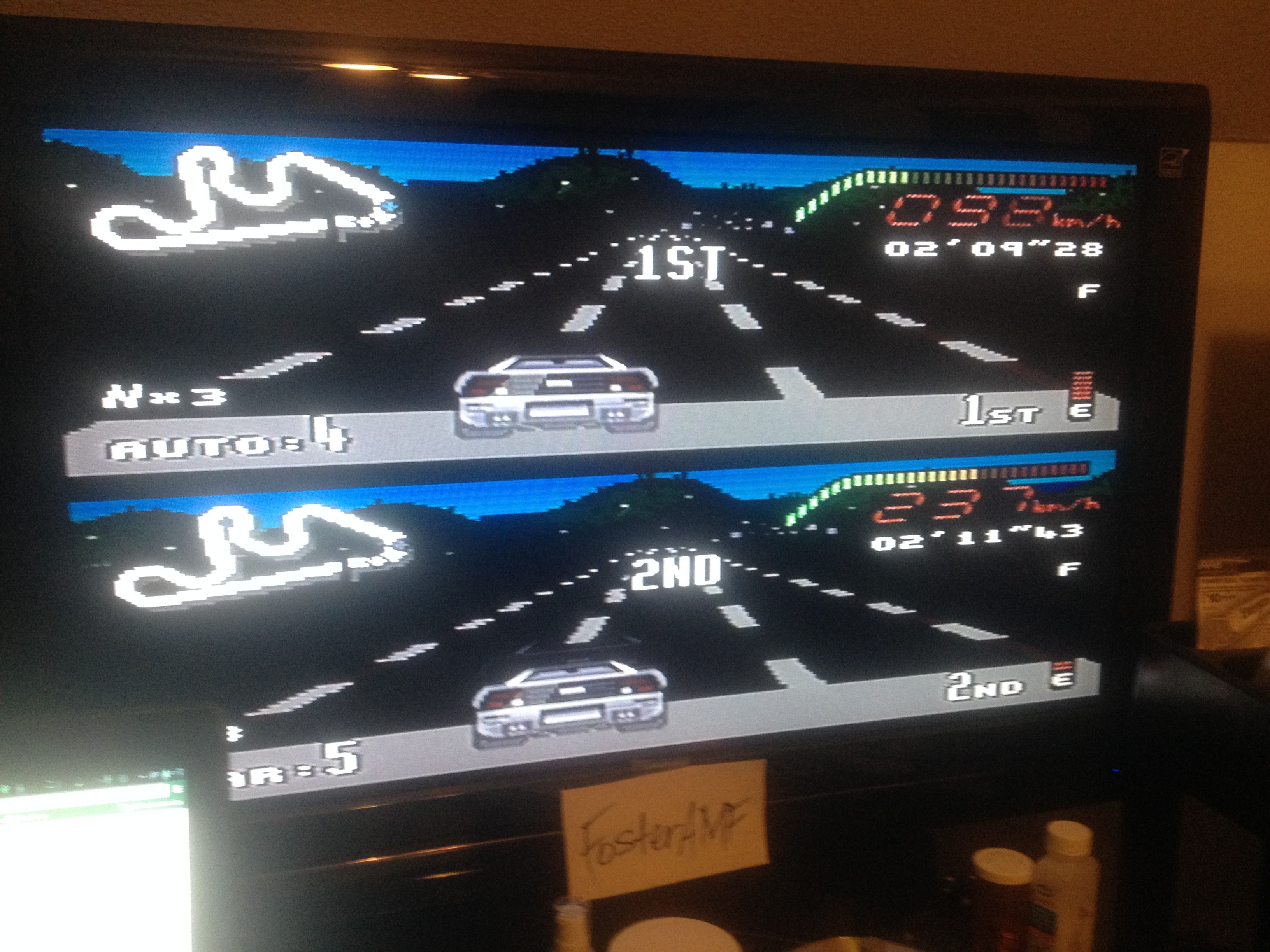 FosterAMF: Top Gear [Track 27: Sicily/Amateur Difficulty/No Nitro] (SNES/Super Famicom) 0:02:09.28 points on 2014-08-04 21:34:10