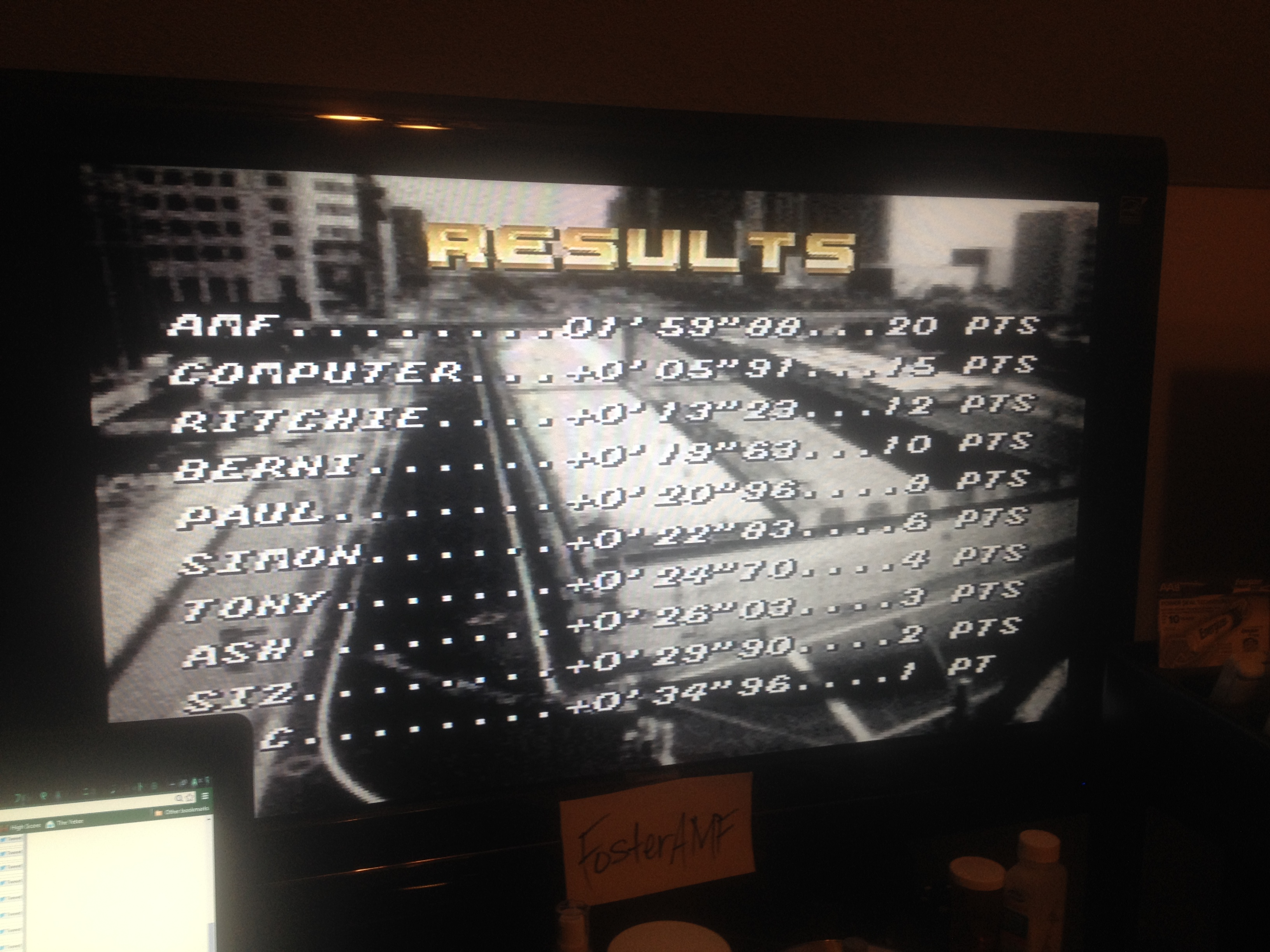 FosterAMF: Top Gear [Track 28: Florence/Amateur Difficulty/No Nitro] (SNES/Super Famicom) 0:01:59.88 points on 2014-08-04 21:36:08