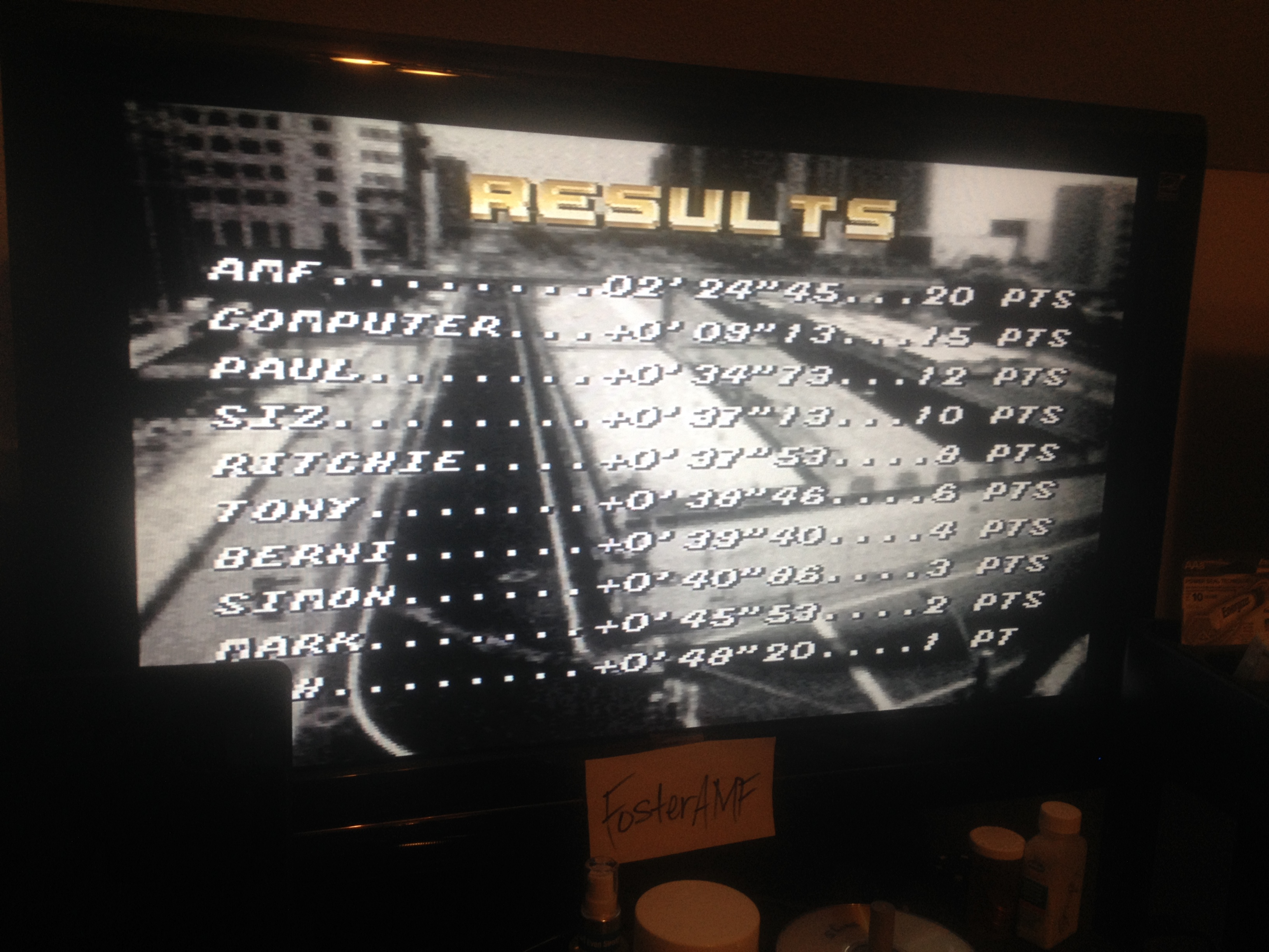 FosterAMF: Top Gear [Track 32: Stonehenge/Amateur Difficulty/No Nitro] (SNES/Super Famicom) 0:02:24.45 points on 2014-08-04 21:52:37