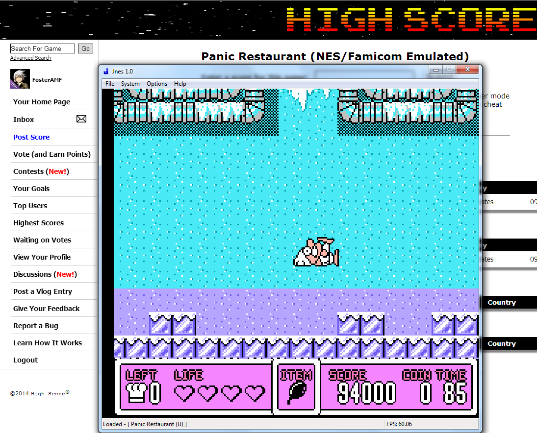 FosterAMF: Panic Restaurant (NES/Famicom Emulated) 94,000 points on 2014-08-07 04:36:26