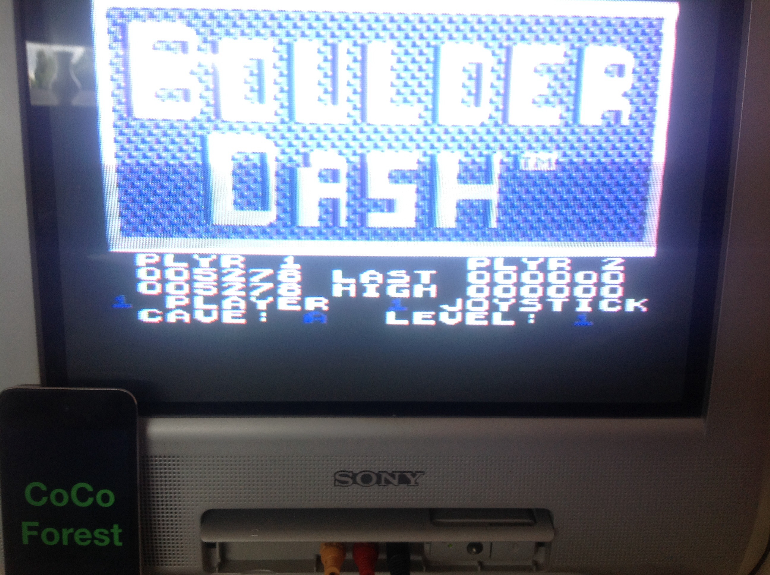 CoCoForest: Boulder Dash (Commodore 64) 5,278 points on 2014-08-07 05:50:53