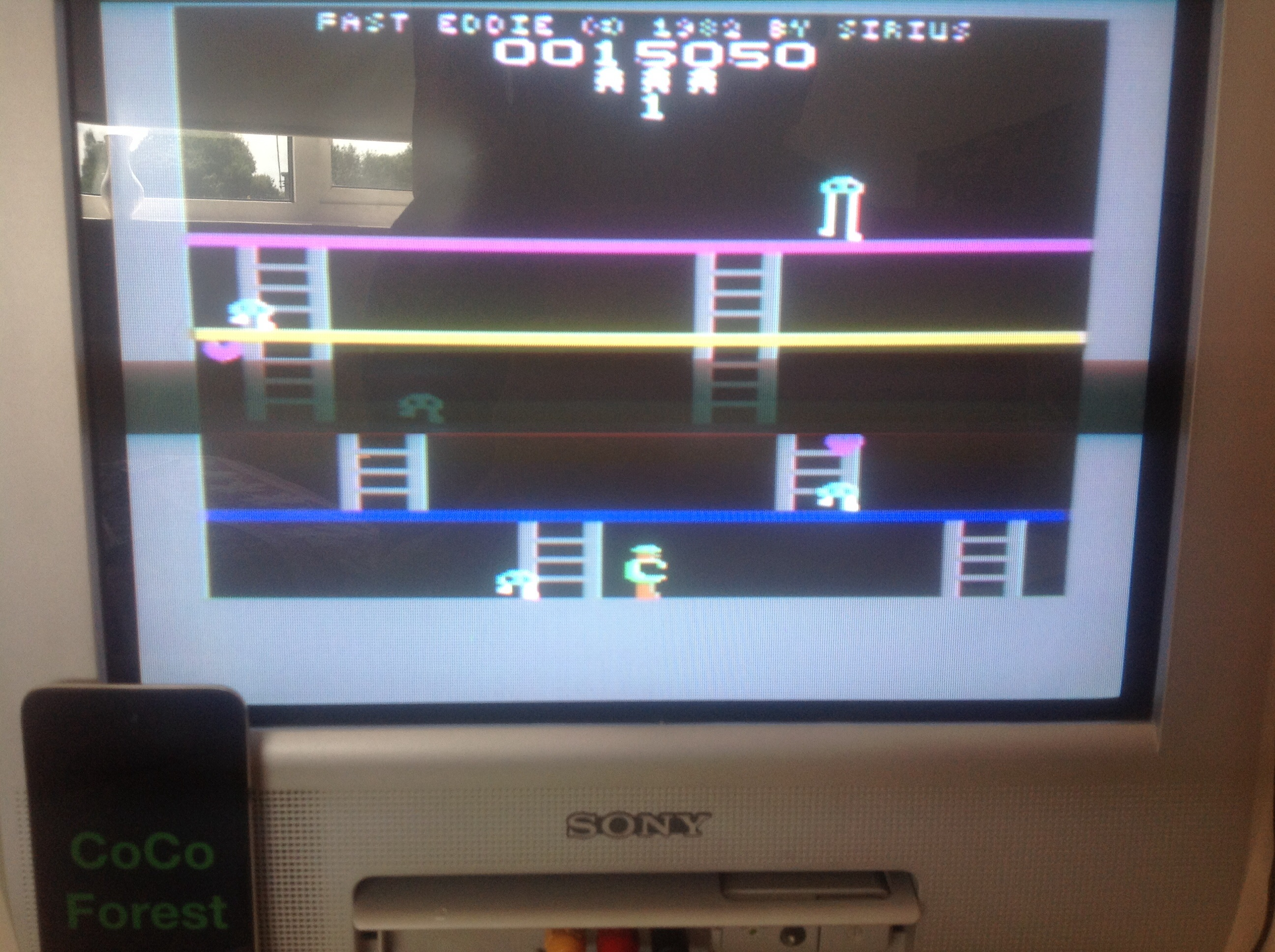 CoCoForest: Fast Eddie (Commodore 64) 15,050 points on 2014-08-07 08:15:14
