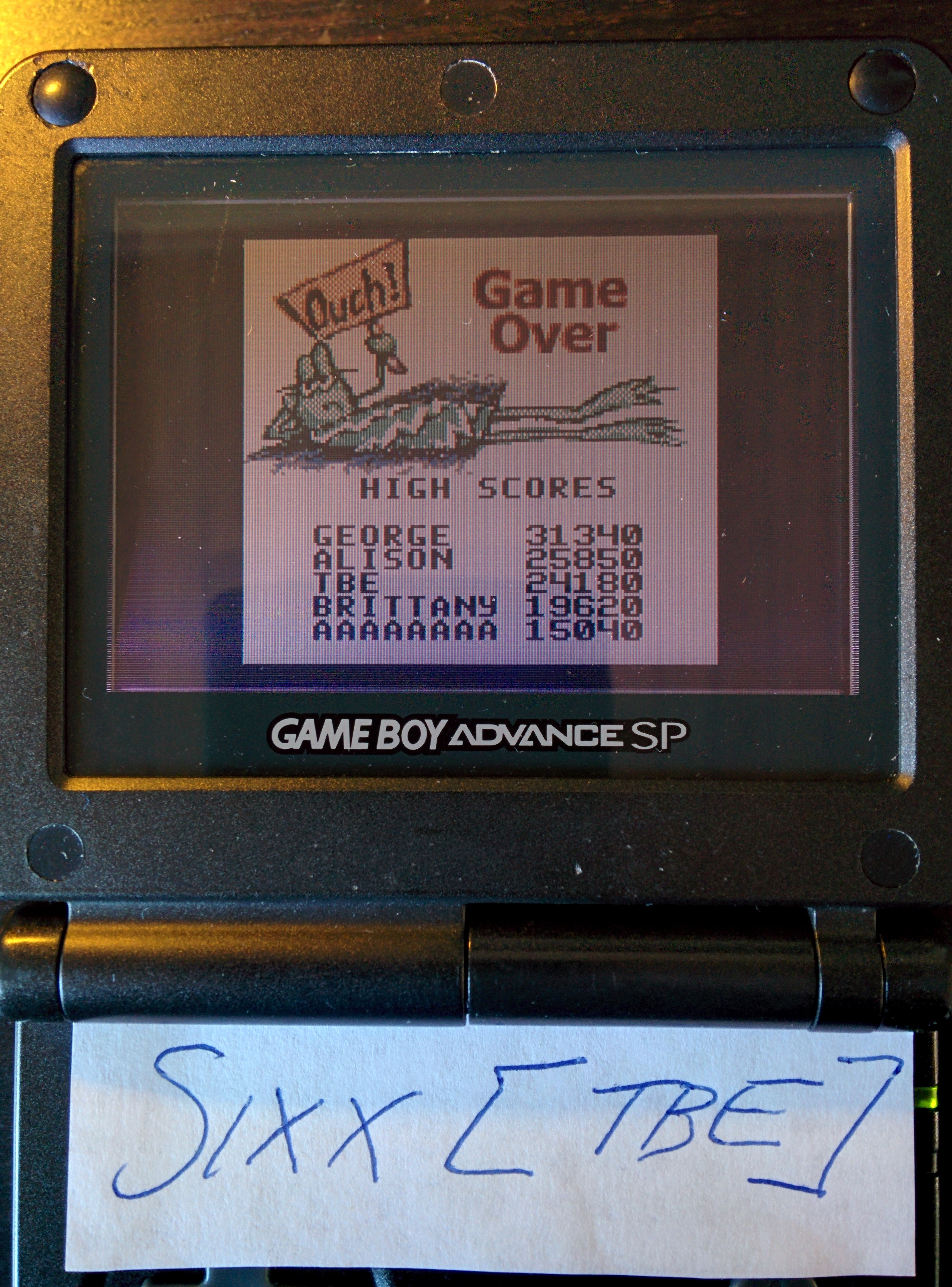 Sixx: Frogger (Game Boy Color) 24,180 points on 2014-08-08 10:46:05