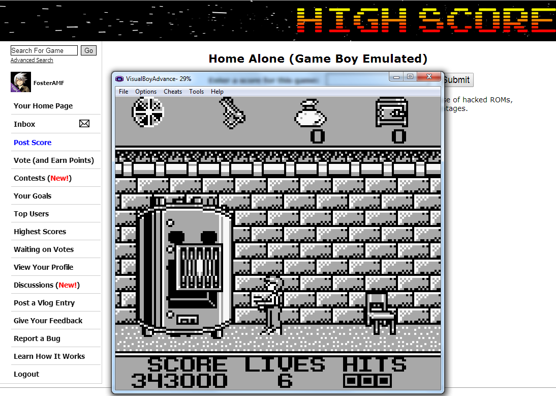 FosterAMF: Home Alone (Game Boy Emulated) 343,000 points on 2014-08-08 16:38:19