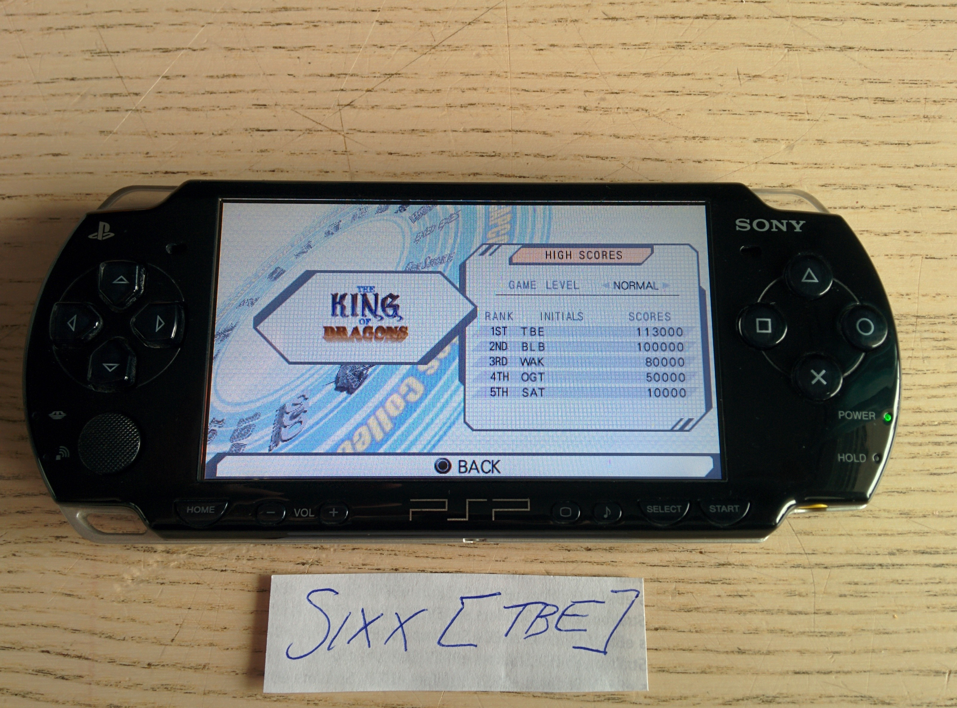 Sixx: Capcom Classics Collection Reloaded: The King of the Dragons (PSP) 113,000 points on 2014-08-09 17:54:30