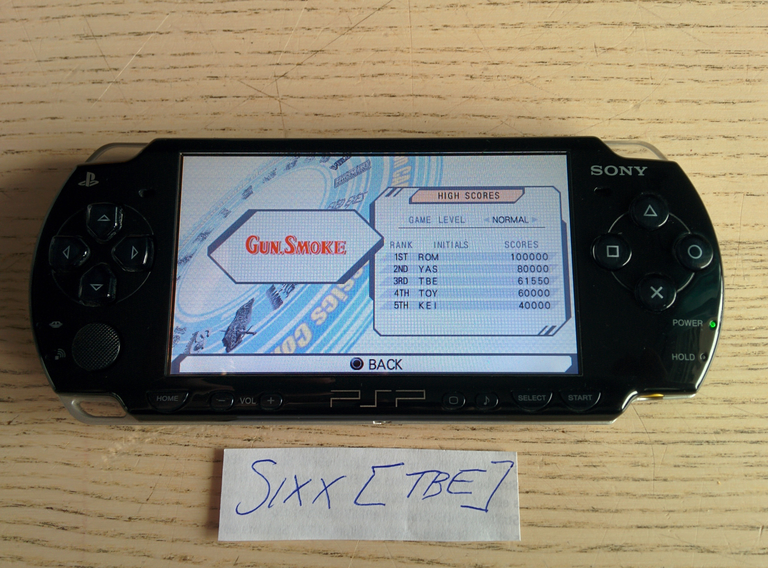 Sixx: Capcom Classics Collection Reloaded: Gun.Smoke (PSP) 61,550 points on 2014-08-09 17:55:41