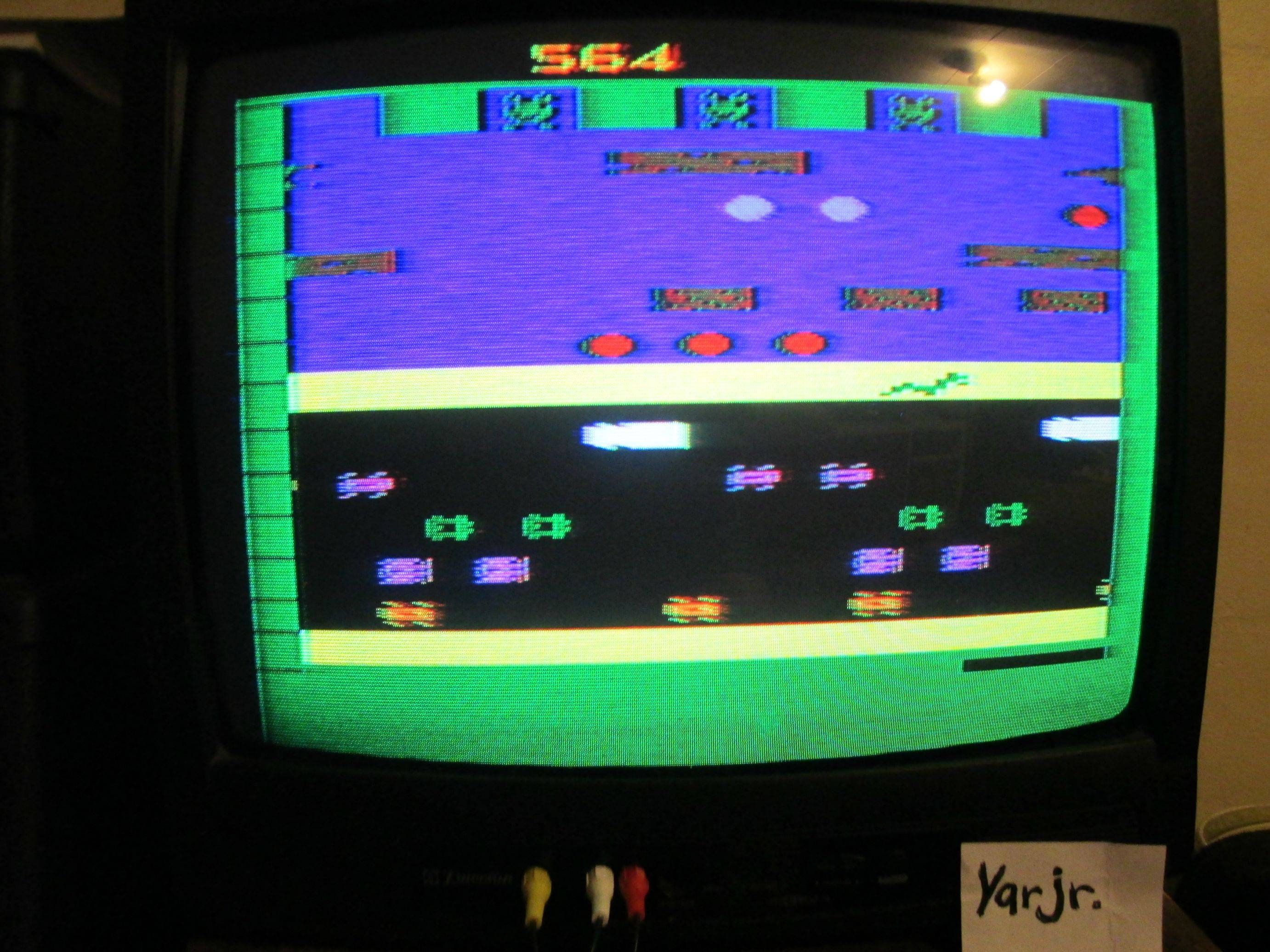 yarjr: Frogger (Atari 2600 Expert/A) 564 points on 2013-09-03 22:40:18