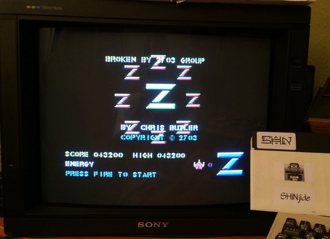 SHiNjide: Z / Z-Pilot (Commodore 64) 43,200 points on 2014-08-11 14:49:06