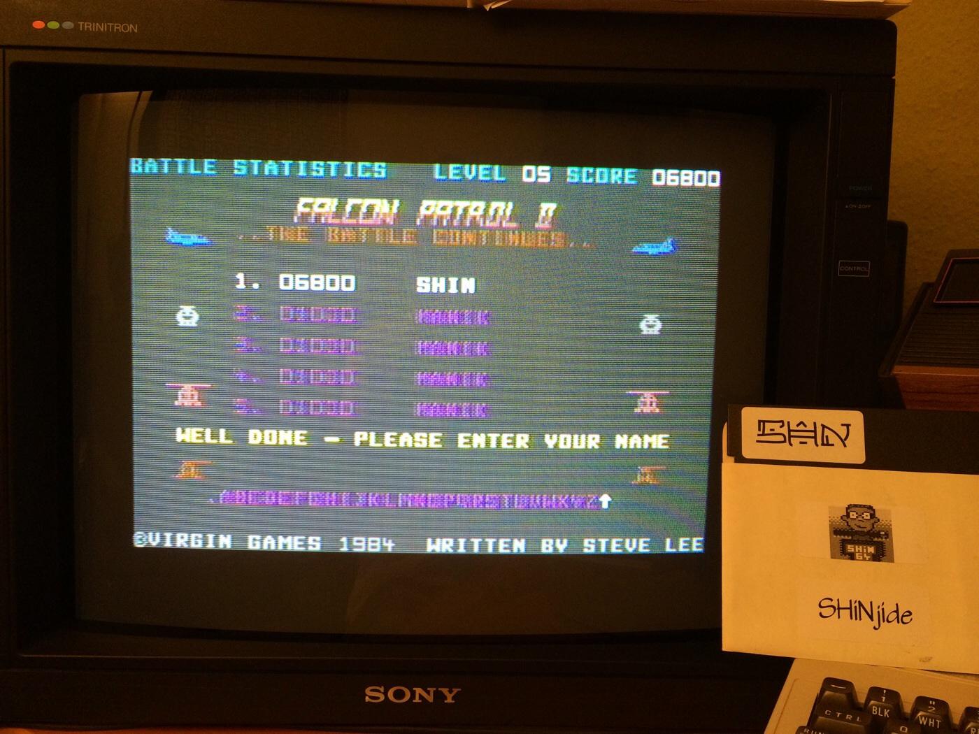 SHiNjide: Falcon Patrol II (Commodore 64) 6,800 points on 2014-08-11 14:51:47