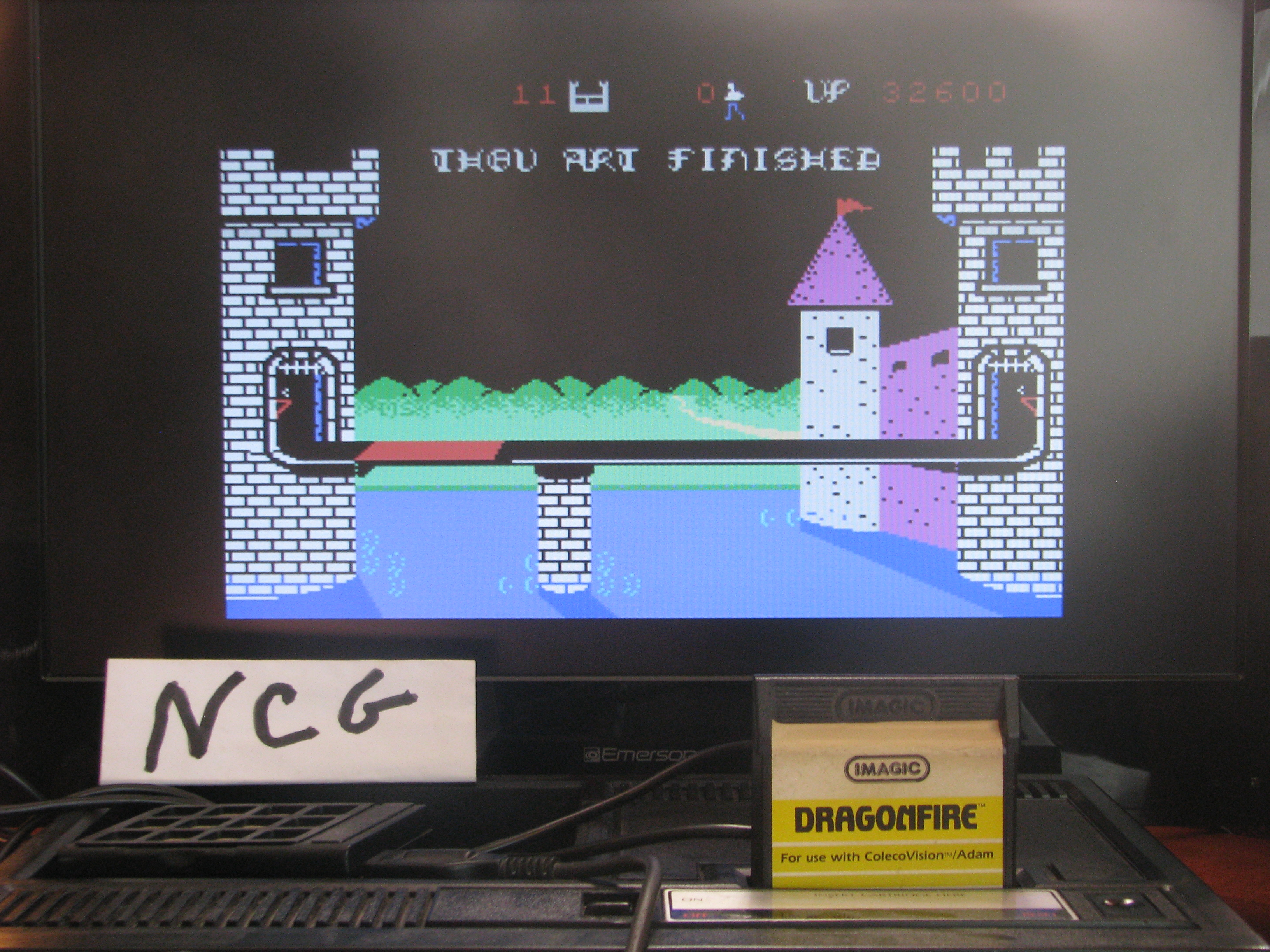 NorthCoastGamer: Dragonfire (Colecovision) 32,600 points on 2014-08-14 11:09:11