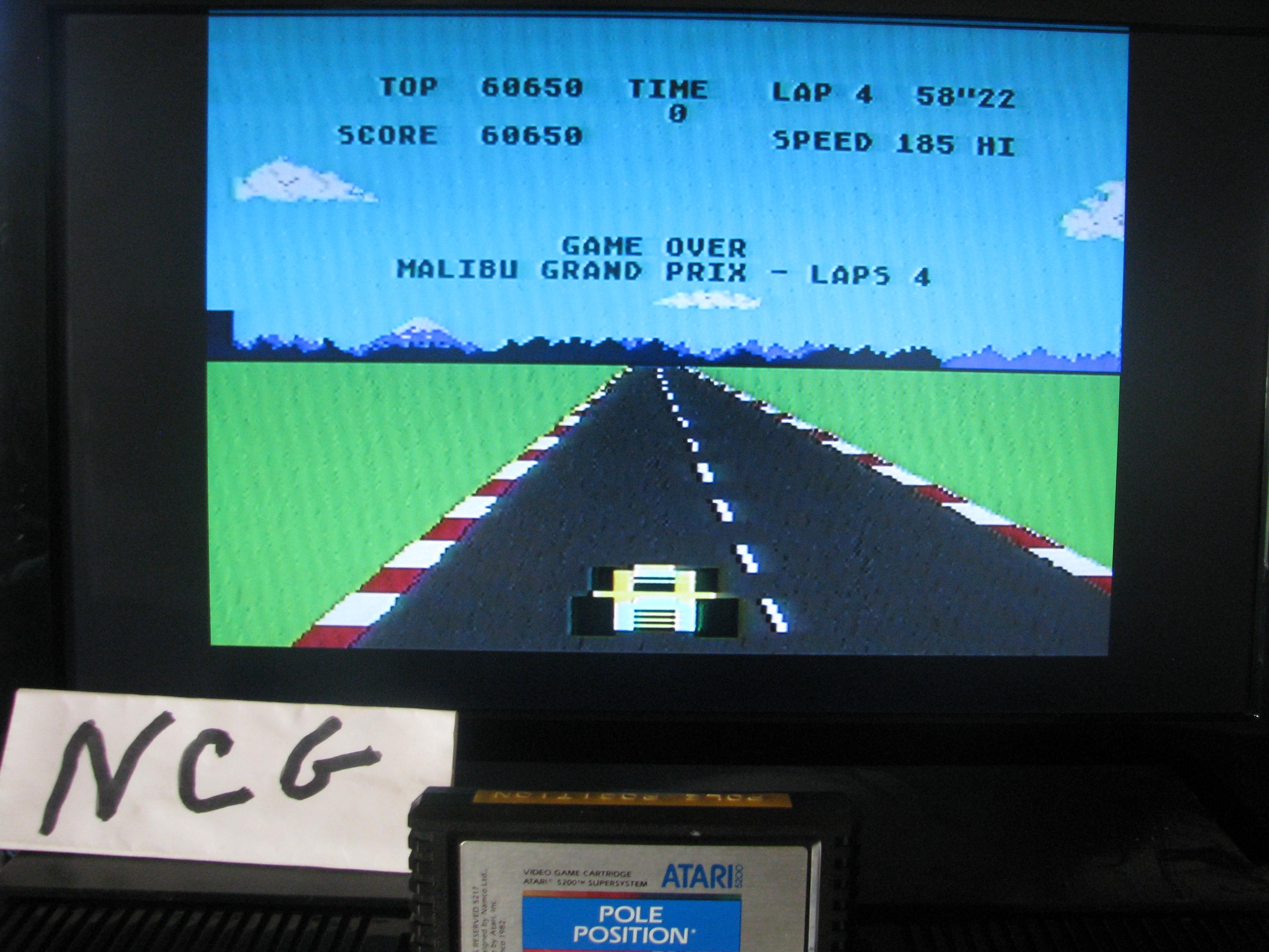 NorthCoastGamer: Pole Position (Atari 5200) 60,650 points on 2014-08-14 11:18:49