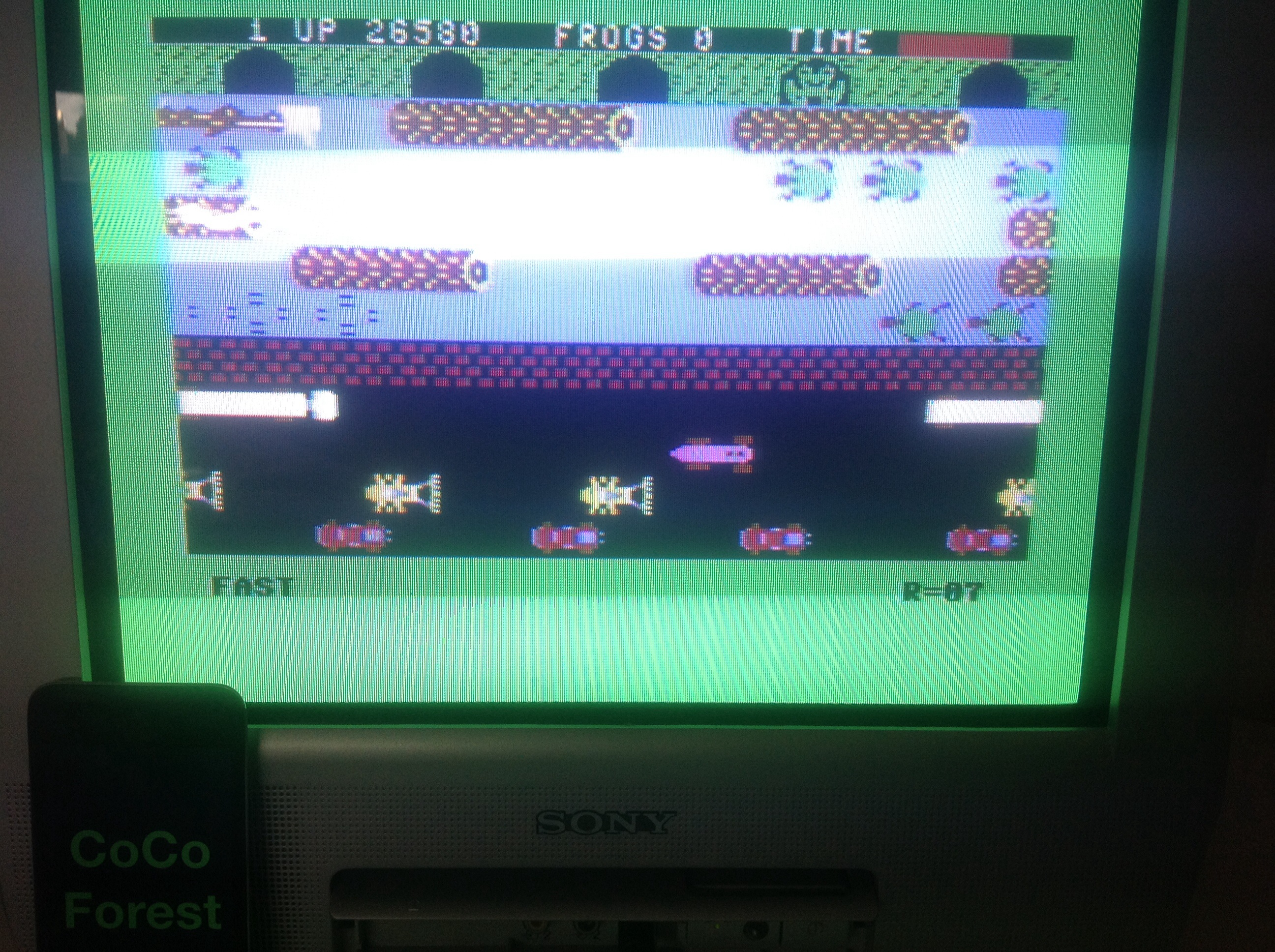 CoCoForest: Frogger: Parker Bros [Fast] (Commodore 64) 26,580 points on 2014-08-15 08:25:09