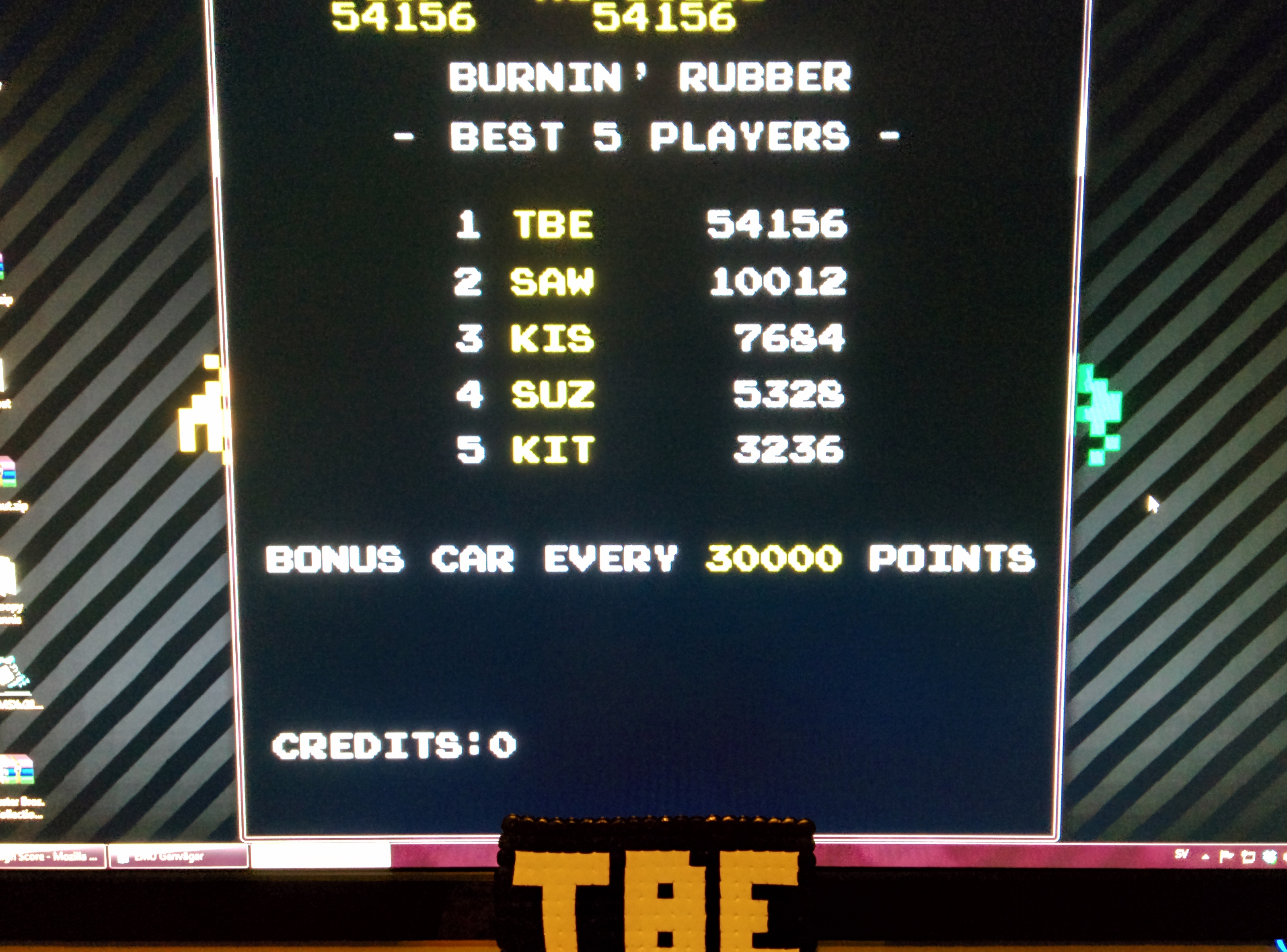 Sixx: Burning Rubber (Arcade Emulated / M.A.M.E.) 54,156 points on 2014-08-15 15:47:06
