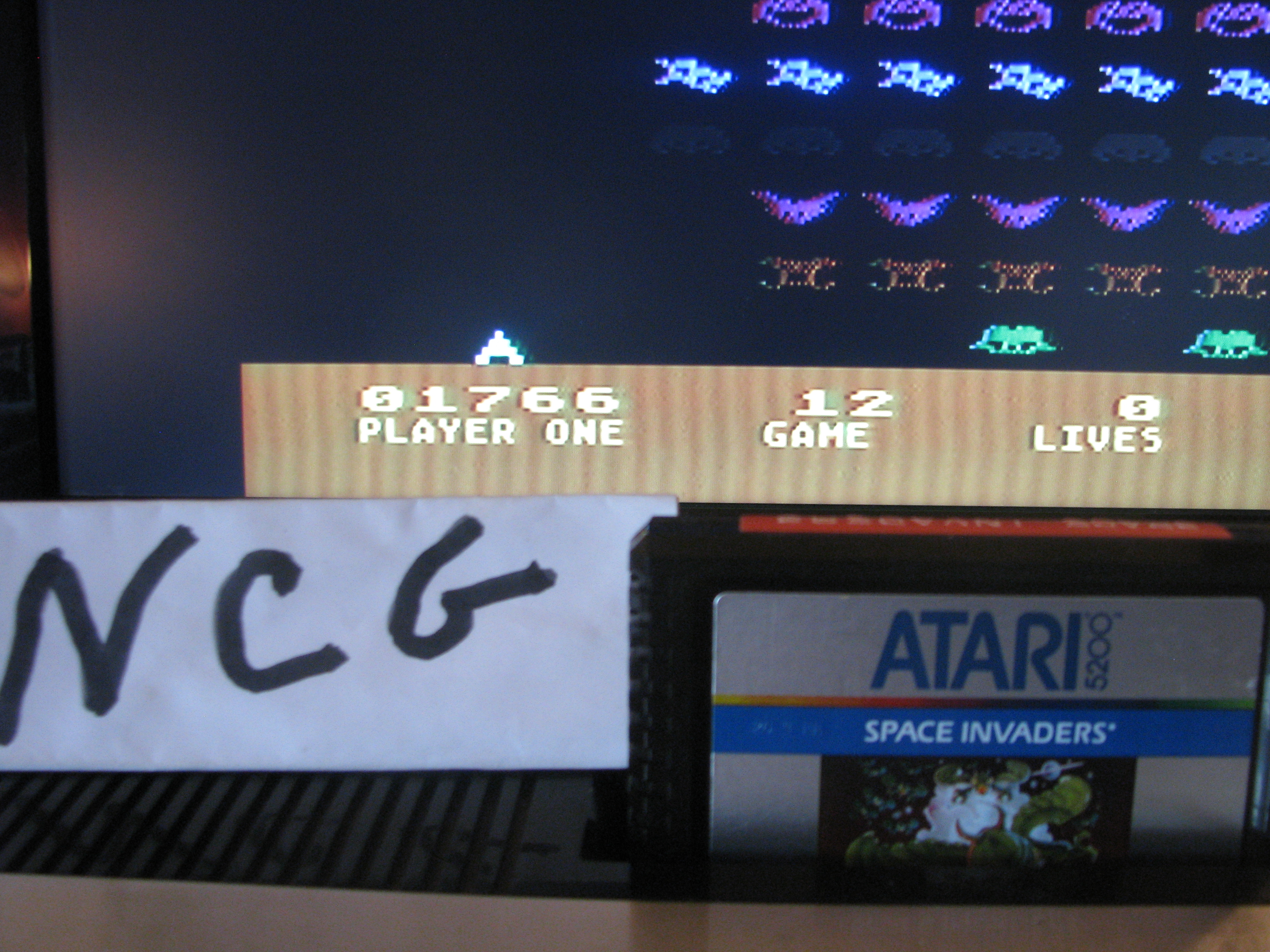 NorthCoastGamer: Space Invaders: Game 12 (Atari 5200) 1,766 points on 2014-08-16 09:05:42