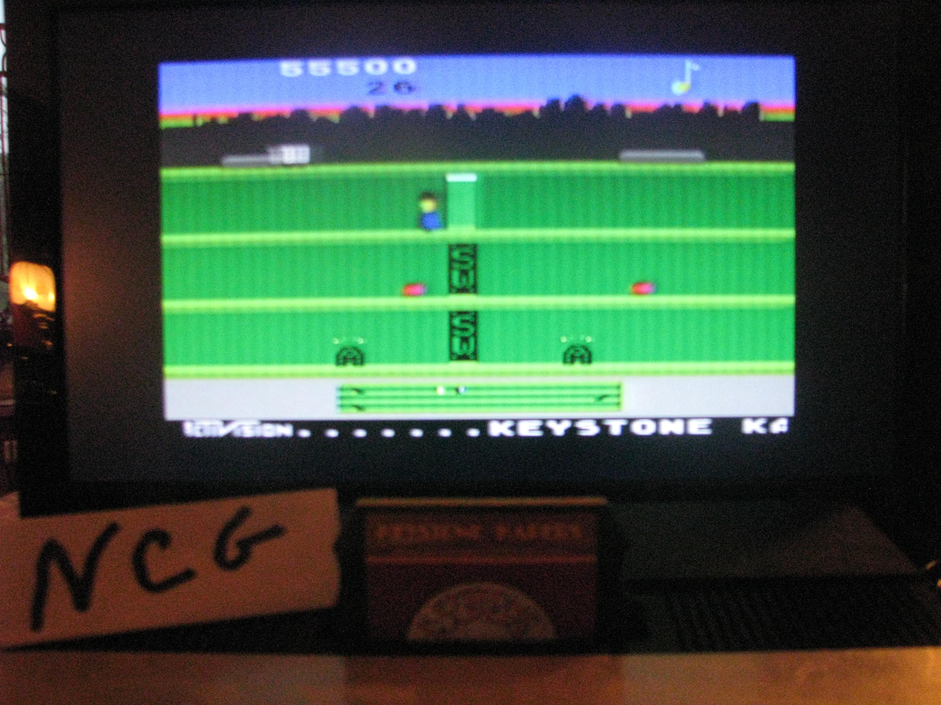 NorthCoastGamer: Keystone Kapers: Skill 1 (Atari 5200) 55,500 points on 2014-08-16 09:08:14