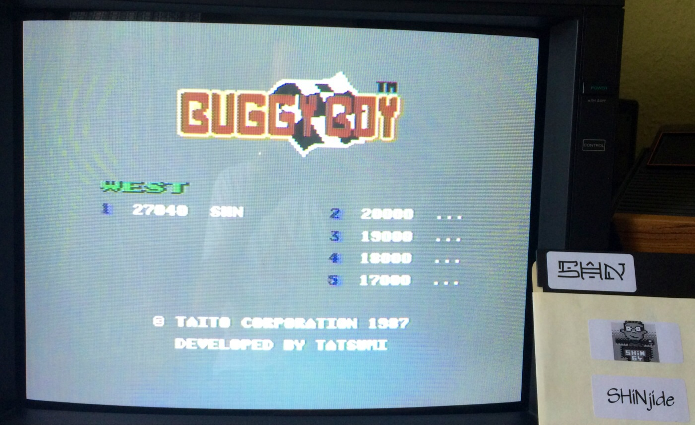 SHiNjide: Buggy Boy: West (Commodore 64) 27,040 points on 2014-08-17 06:22:34