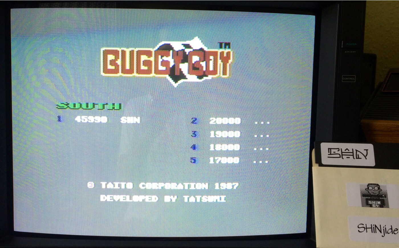 SHiNjide: Buggy Boy: South (Commodore 64) 45,990 points on 2014-08-17 06:23:34