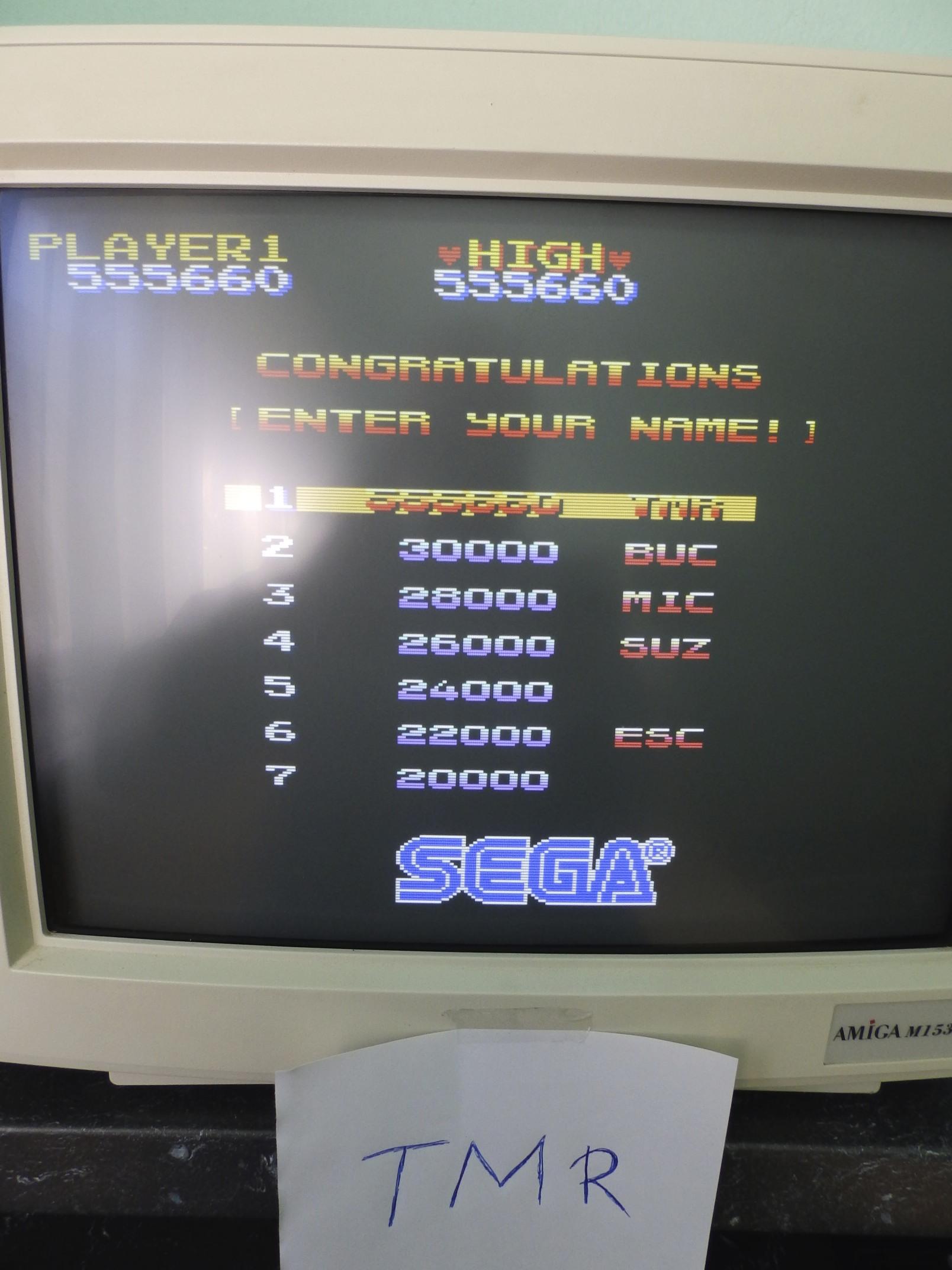 Wonder Boy 555,660 points