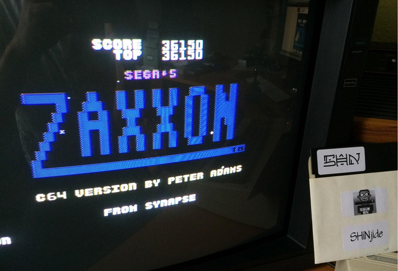 SHiNjide: Zaxxon: Sega (Commodore 64) 36,150 points on 2014-08-17 10:00:16