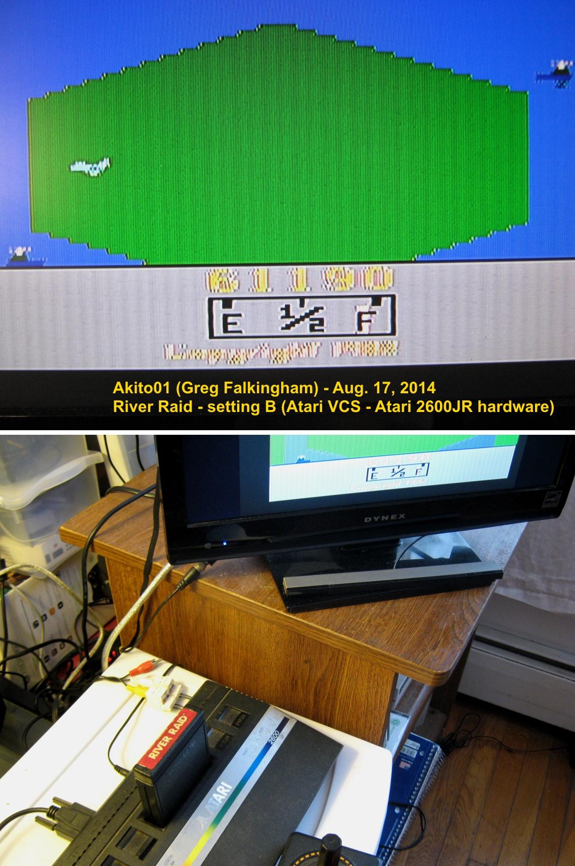 Akito01: River Raid (Atari 2600 Novice/B) 61,190 points on 2014-08-17 15:30:39