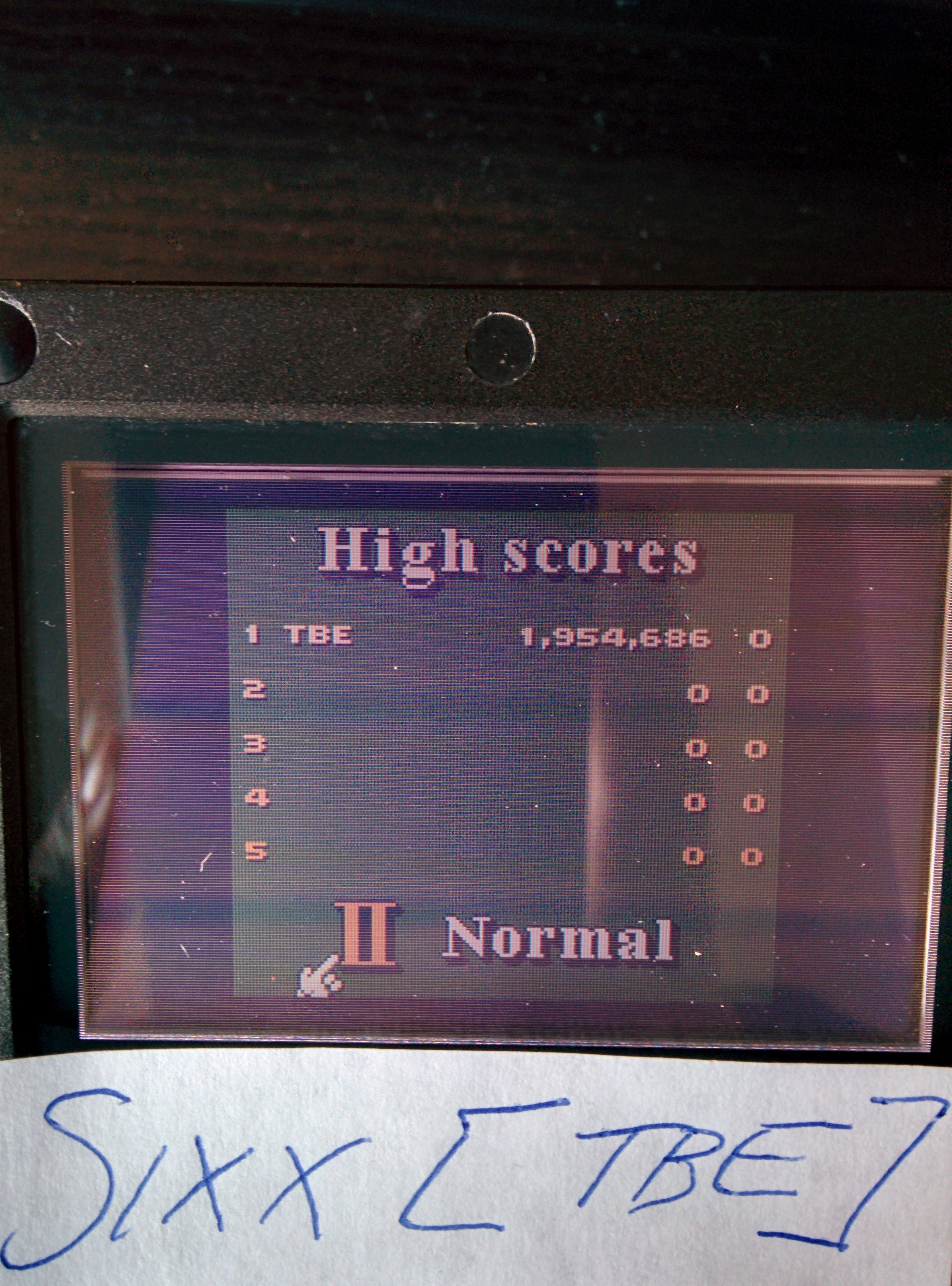 Sixx: 3D Ultra Pinball Thrillride: Normal (Game Boy Color) 1,954,686 points on 2014-08-18 12:41:42