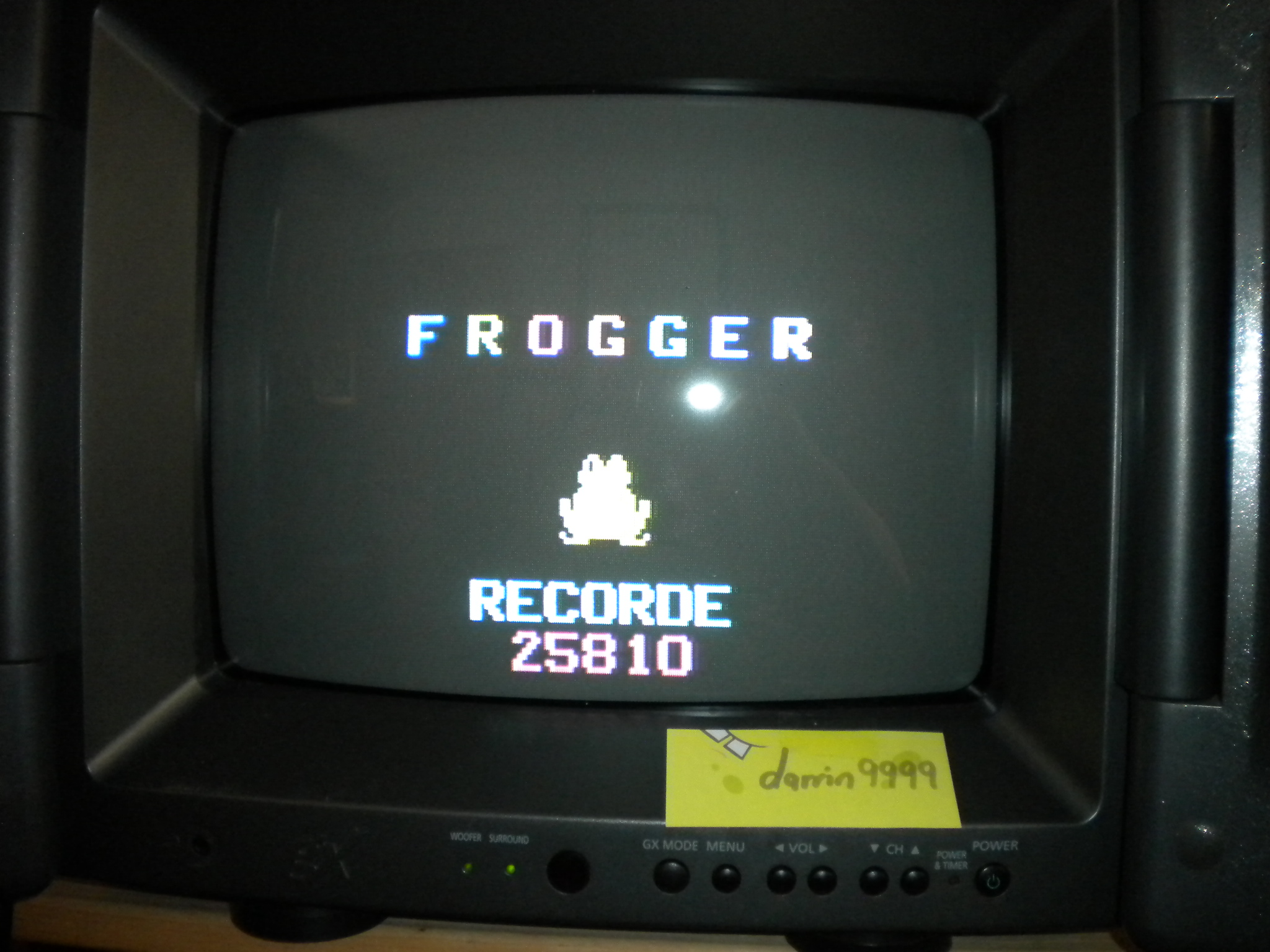 Frogger 25,810 points