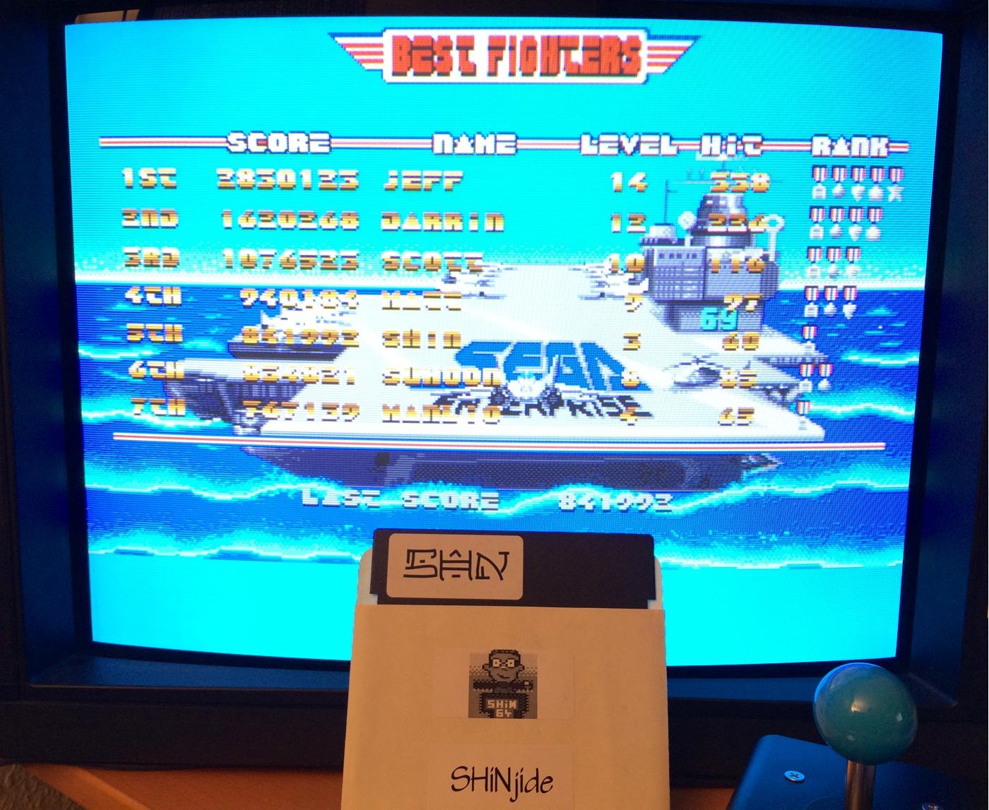 SHiNjide: After Burner [Sega] (Amiga) 841,992 points on 2014-08-23 14:26:51