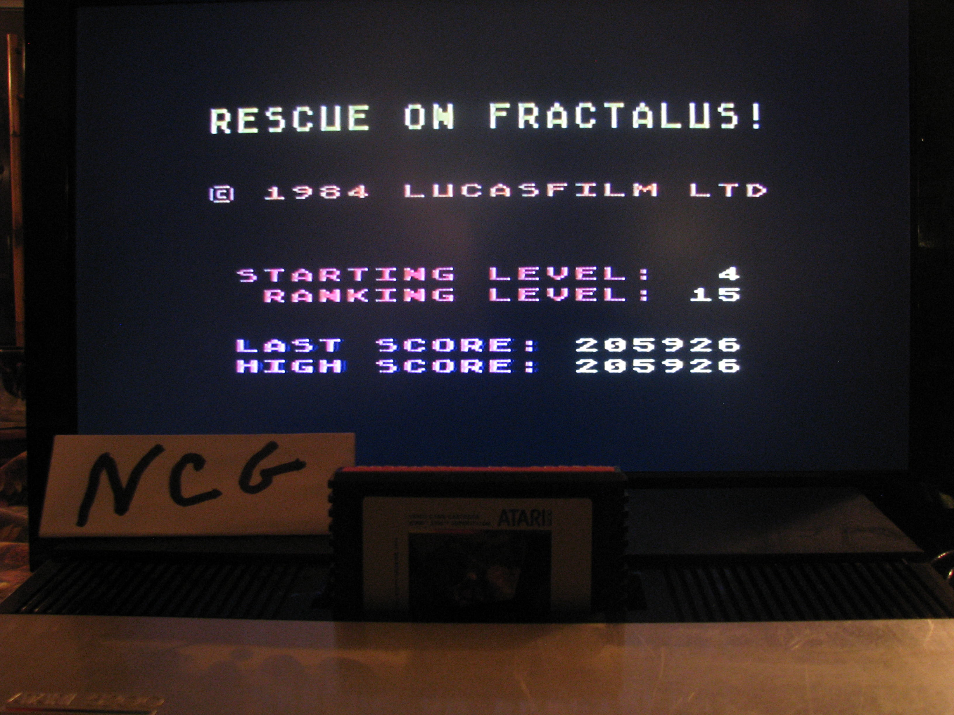 NorthCoastGamer: Rescue on Fractalus (Atari 5200) 205,926 points on 2014-08-23 15:01:10