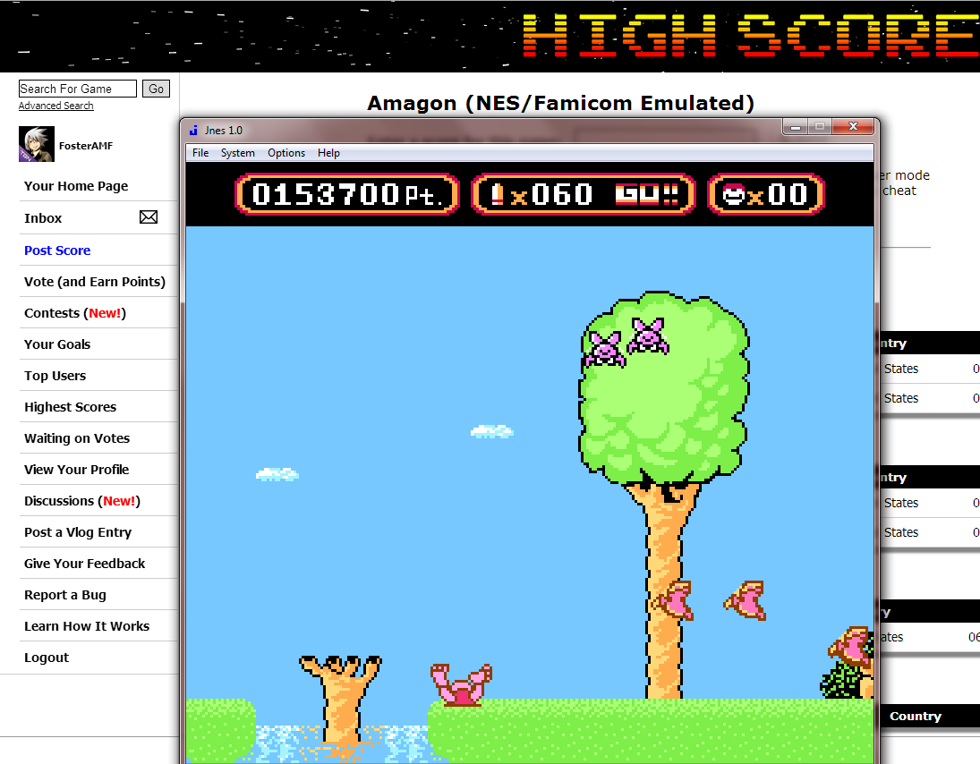 FosterAMF: Amagon (NES/Famicom Emulated) 153,700 points on 2014-08-24 00:15:18