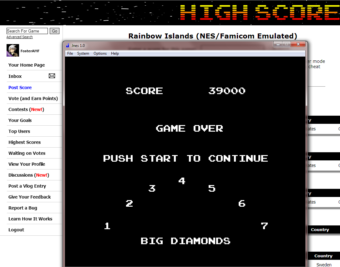 FosterAMF: Rainbow Islands (NES/Famicom Emulated) 39,000 points on 2014-08-24 00:23:58