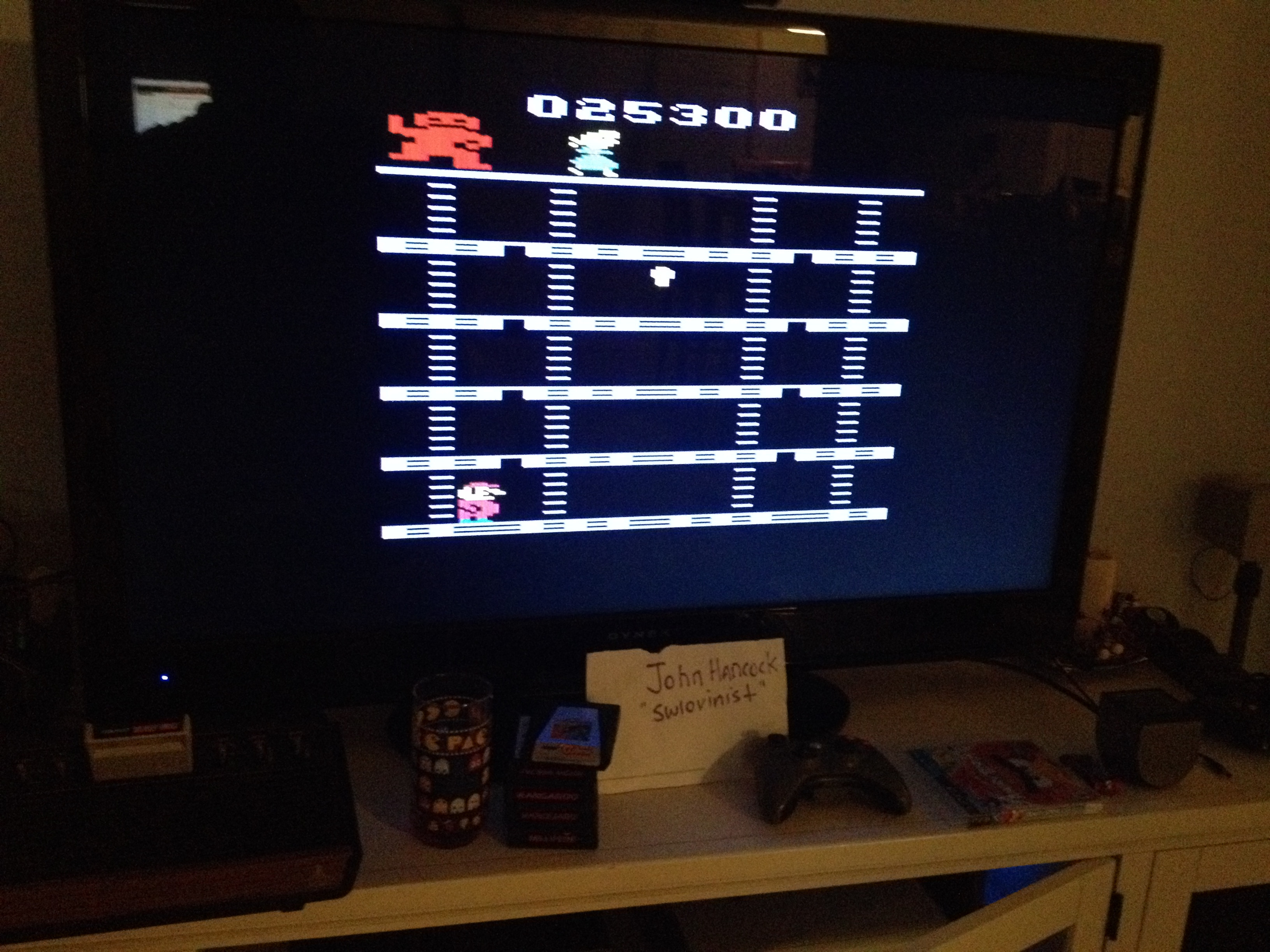 Donkey Kong 25,300 points