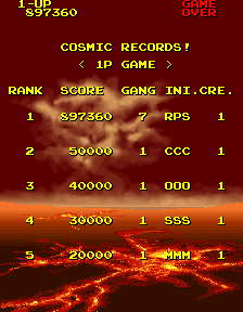RichyS: Cosmo Gang the Video [cosmogng] (Arcade Emulated / M.A.M.E.) 897,360 points on 2014-08-24 17:39:37
