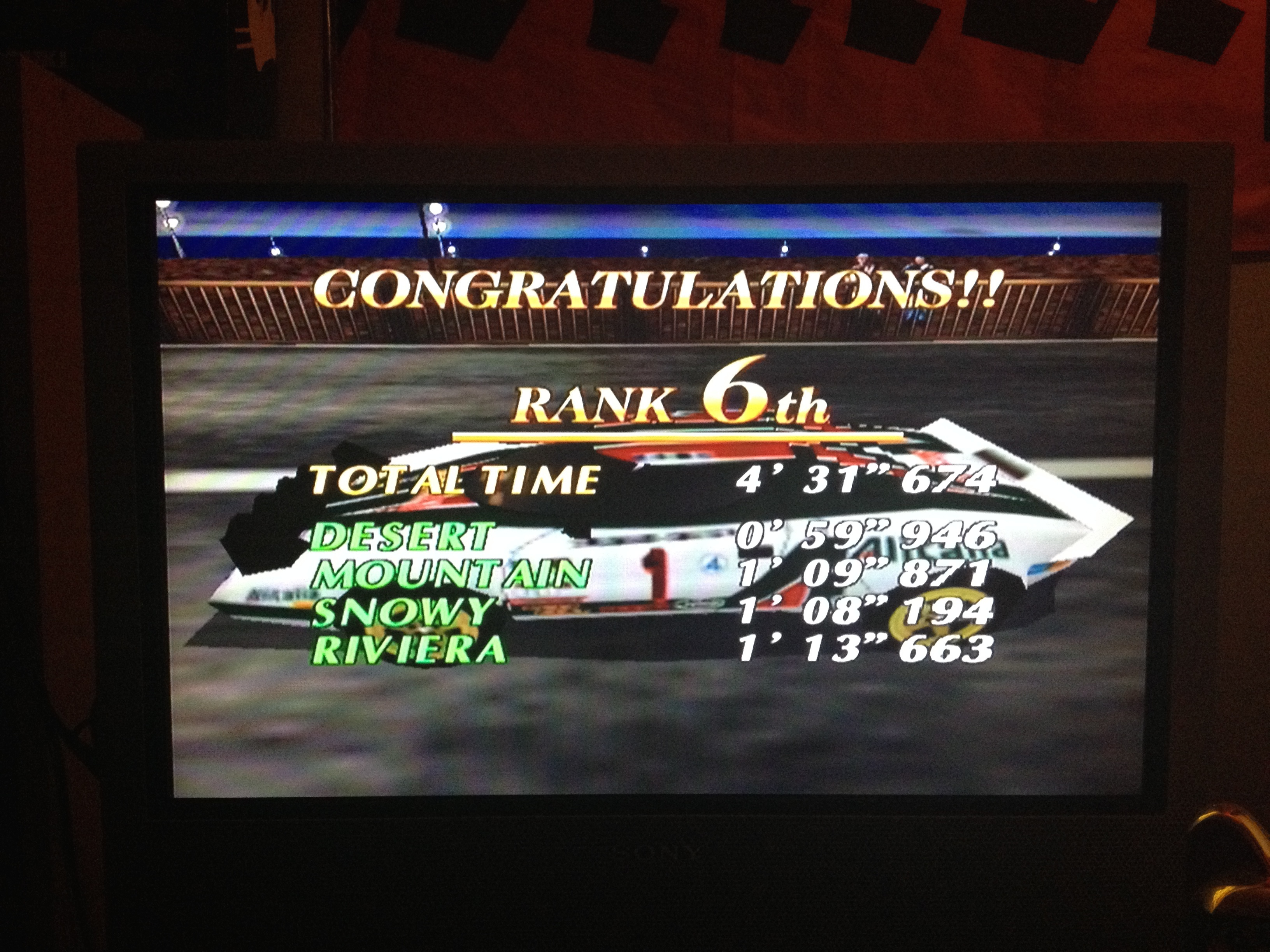 AmetDj: Sega Rally 2 [Arcade Mode] (Dreamcast) 0:04:31.674 points on 2014-08-24 17:49:44