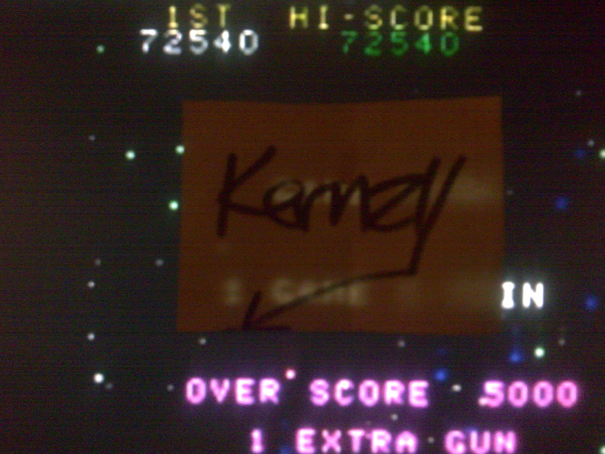 kernzy: Cosmic Alien [cosmica] (Arcade Emulated / M.A.M.E.) 72,540 points on 2014-08-26 12:01:57