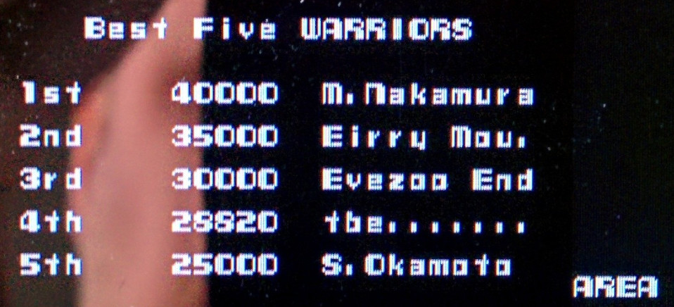 Sixx: Namco Museum: Battle Collection: Xevious (PSP) 28,820 points on 2014-08-26 12:04:37