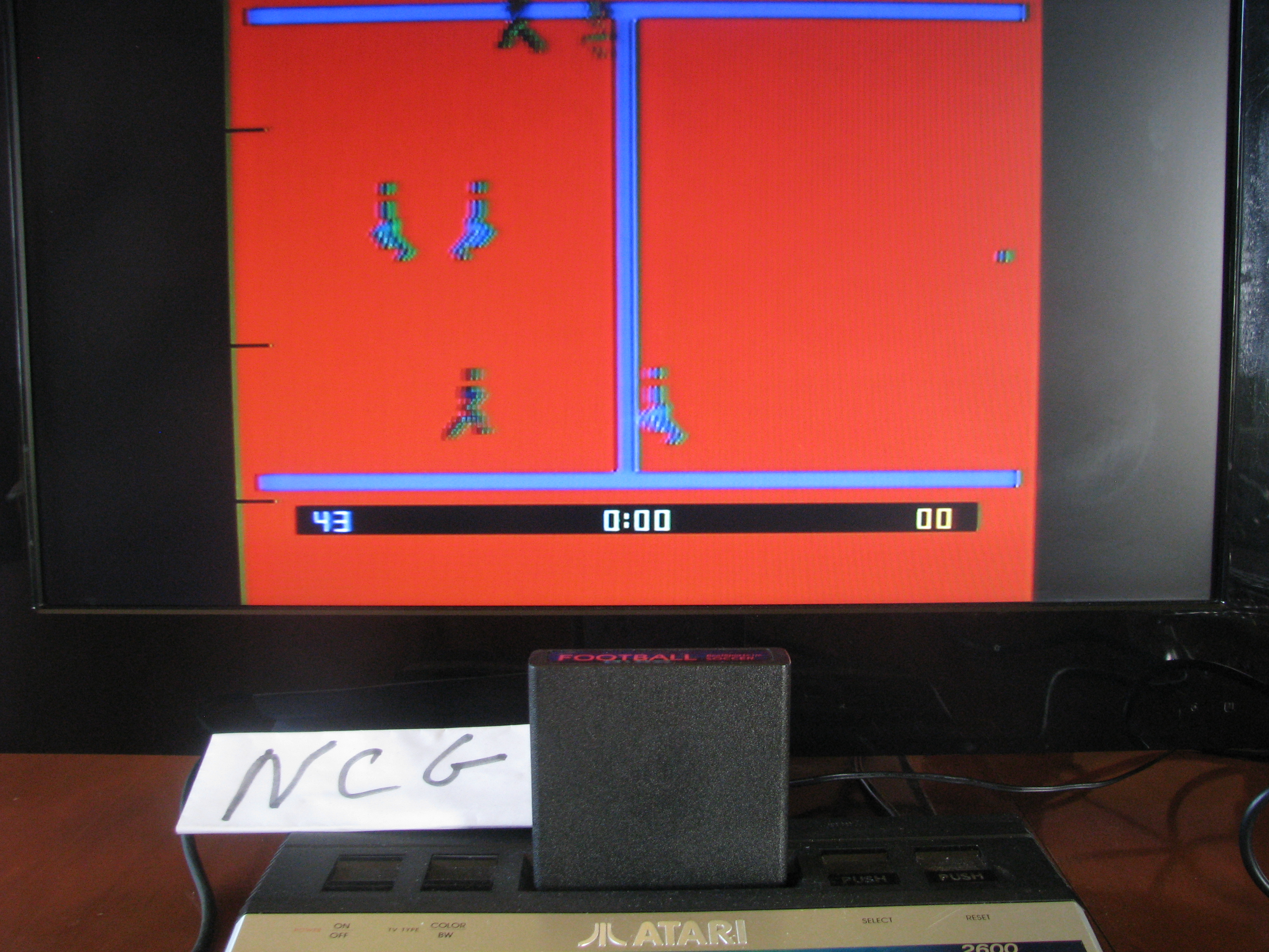 NorthCoastGamer: RealSports Soccer: 5 Minutes [Point Difference] (Atari 2600 Novice/B) 43 points on 2014-08-26 18:08:40