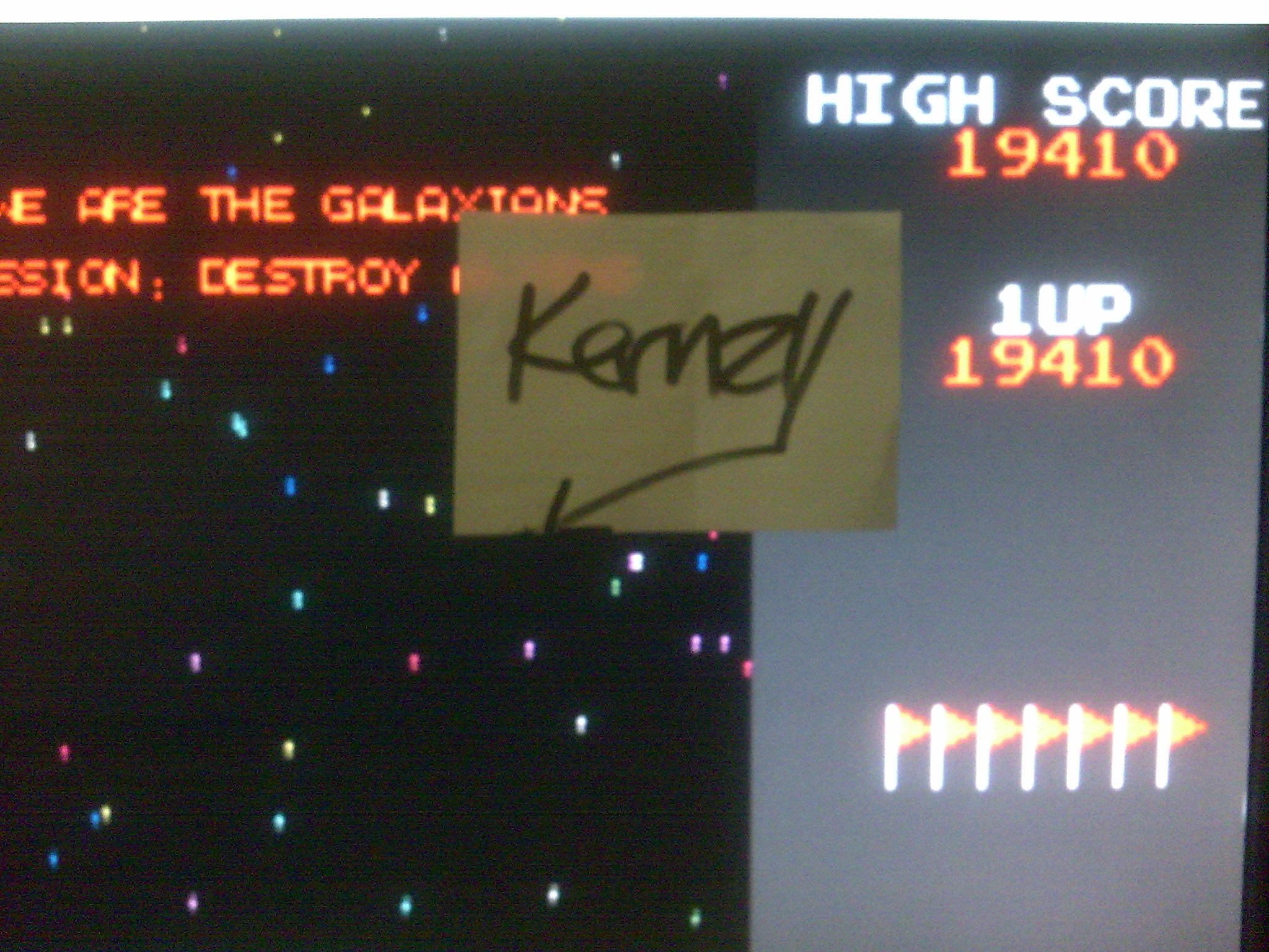 kernzy: Namco Museum: Galaxian (GBA Emulated) 19,410 points on 2014-08-27 06:37:08