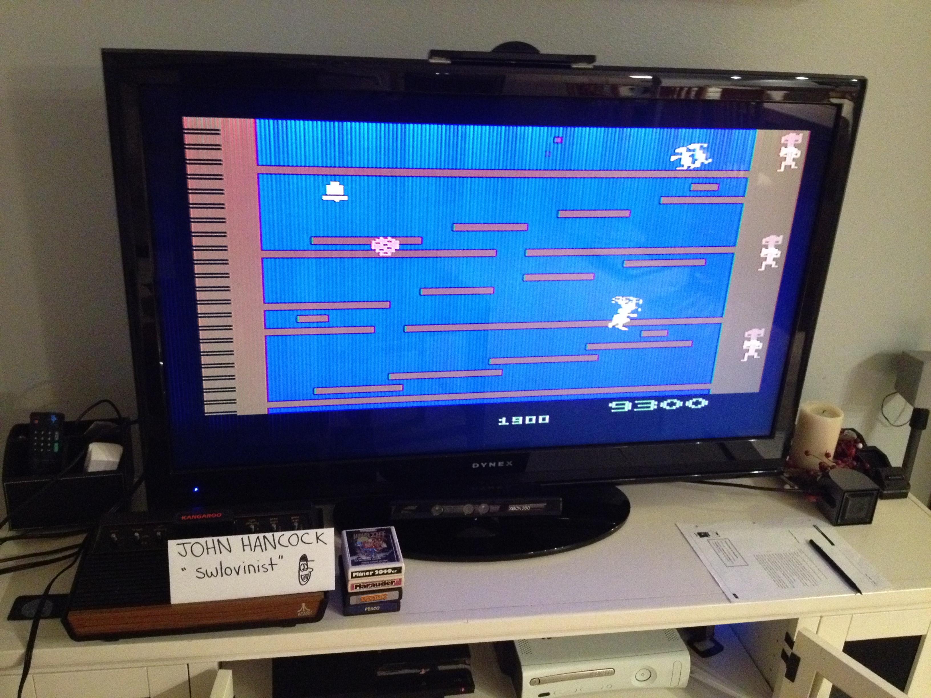swlovinist: Kangaroo (Atari 2600) 9,300 points on 2013-10-02 23:09:46