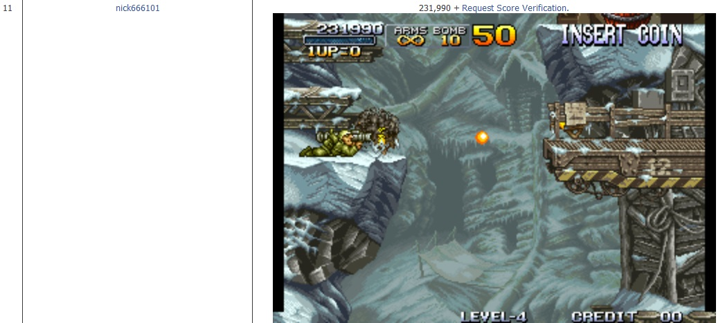 Metal Slug [mslug] 231,990 points