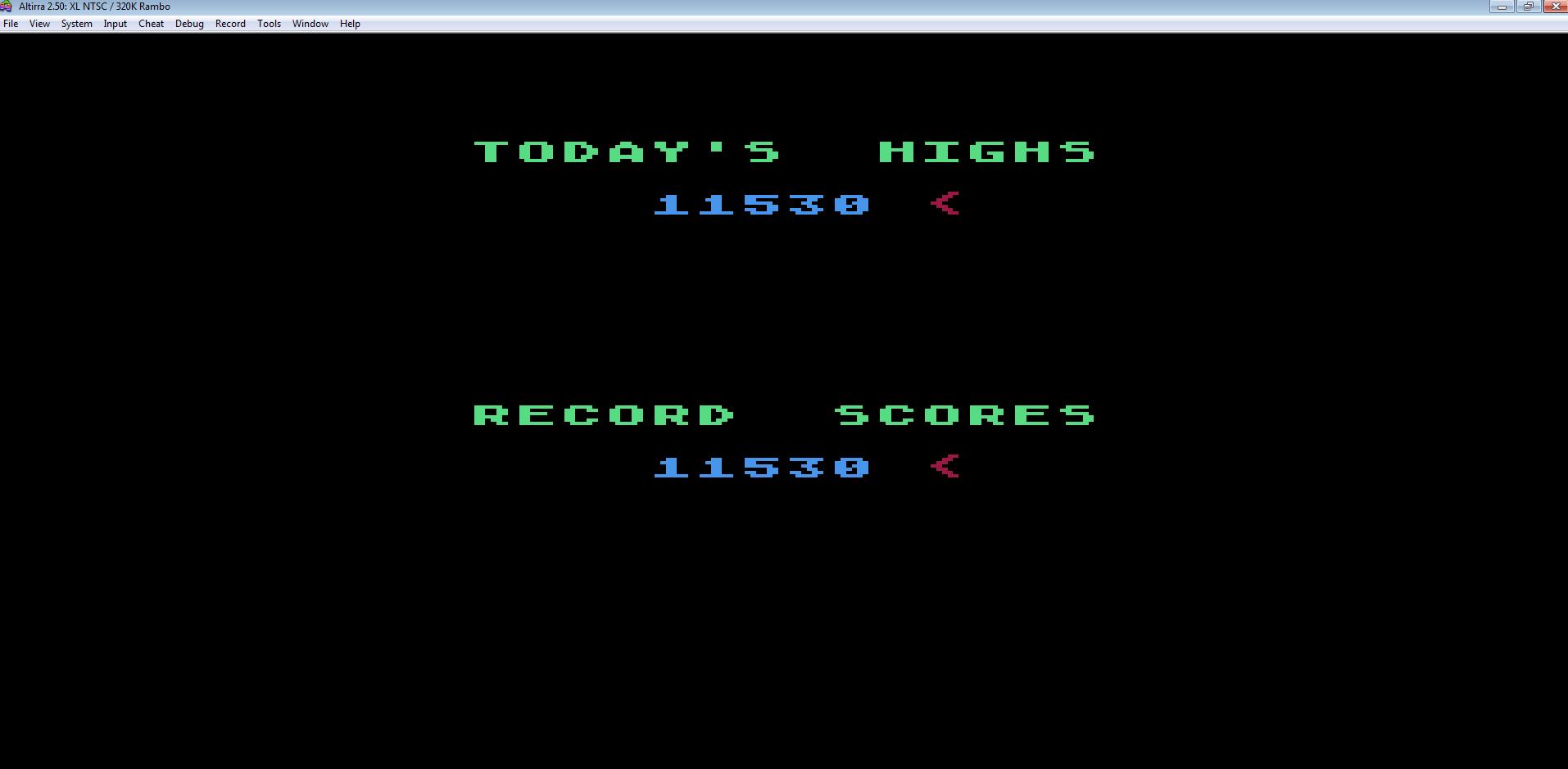 Liduario: Gorf (Atari 400/800/XL/XE Emulated) 11,530 points on 2014-08-28 17:44:04