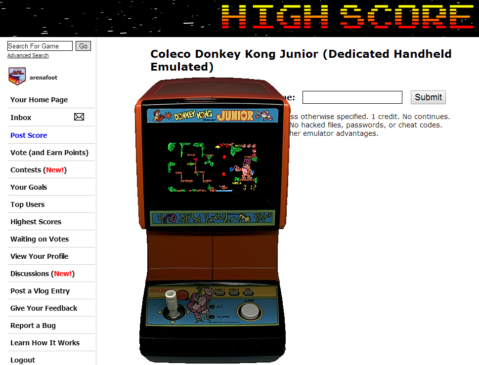 Coleco Donkey Kong Junior 12 points