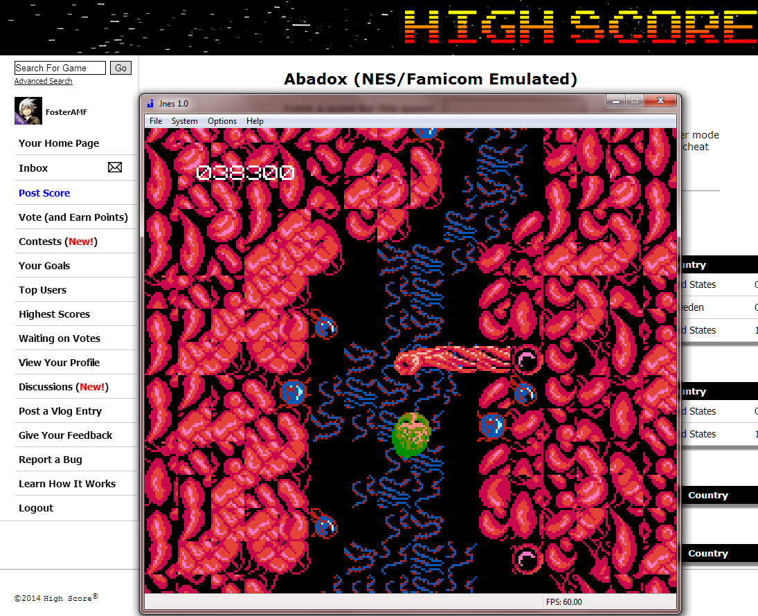 FosterAMF: Abadox (NES/Famicom Emulated) 38,300 points on 2014-08-29 20:14:46