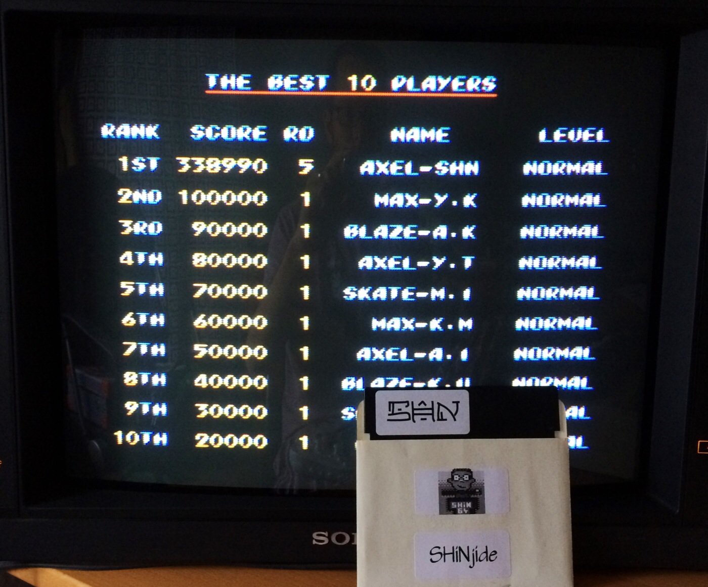 Streets of Rage 2: Normal 338,990 points