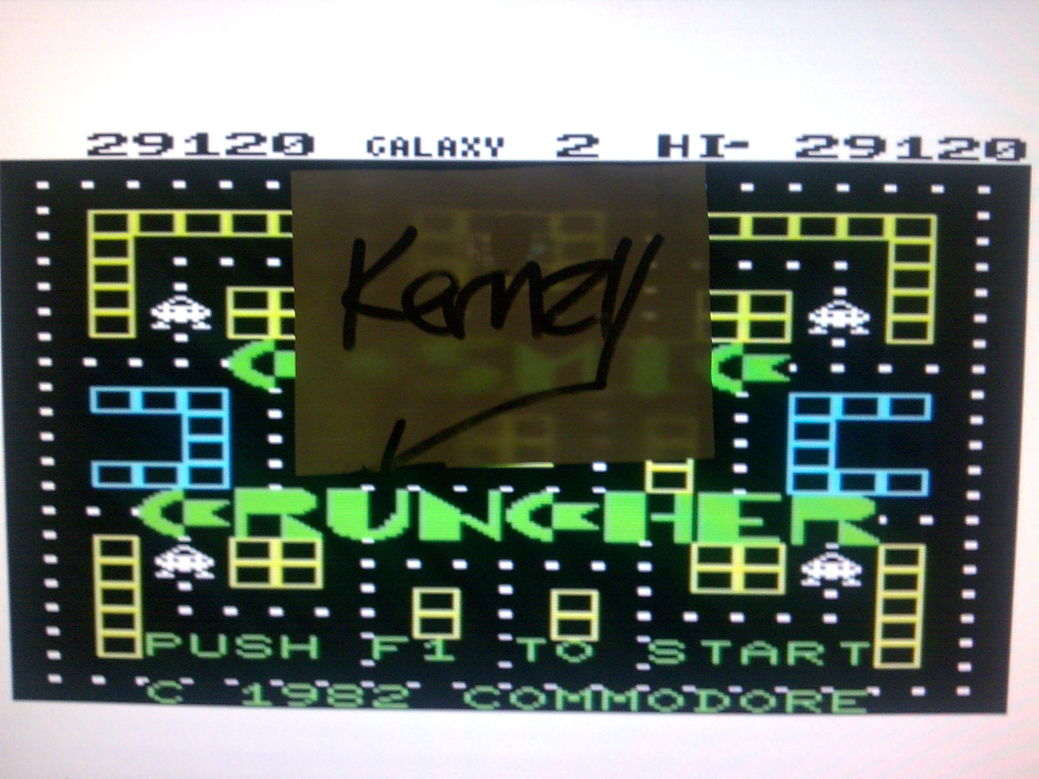kernzy: Cosmic Cruncher (Commodore VIC-20 Emulated) 29,120 points on 2014-08-30 08:32:38