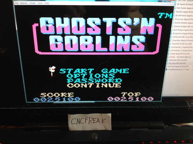 Ghost N Goblins 25,100 points